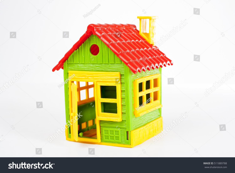 Toy House Symbol Family Green Savings Stock Photo Edit Now