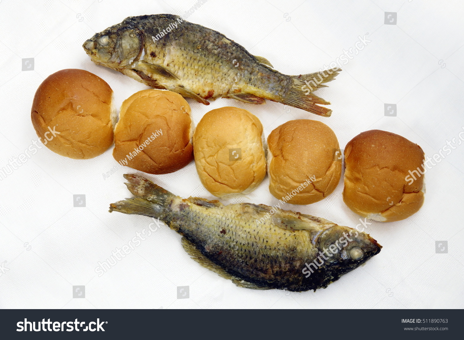 Took five loaves two fishes stock photo 511890763 for Loaves and fish