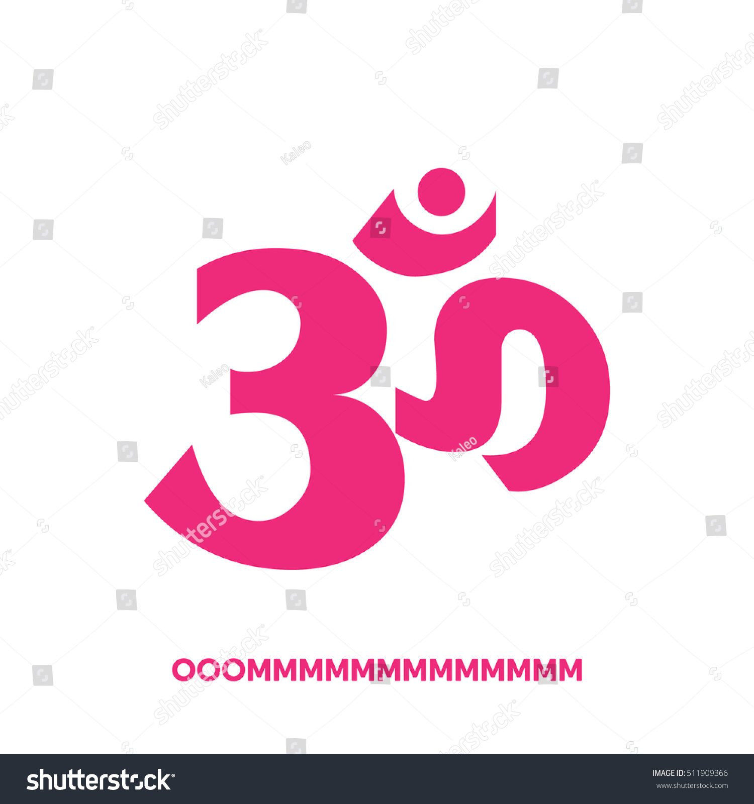 Om Symbol Wordmark Written Hindi On Stock Vector Royalty Free