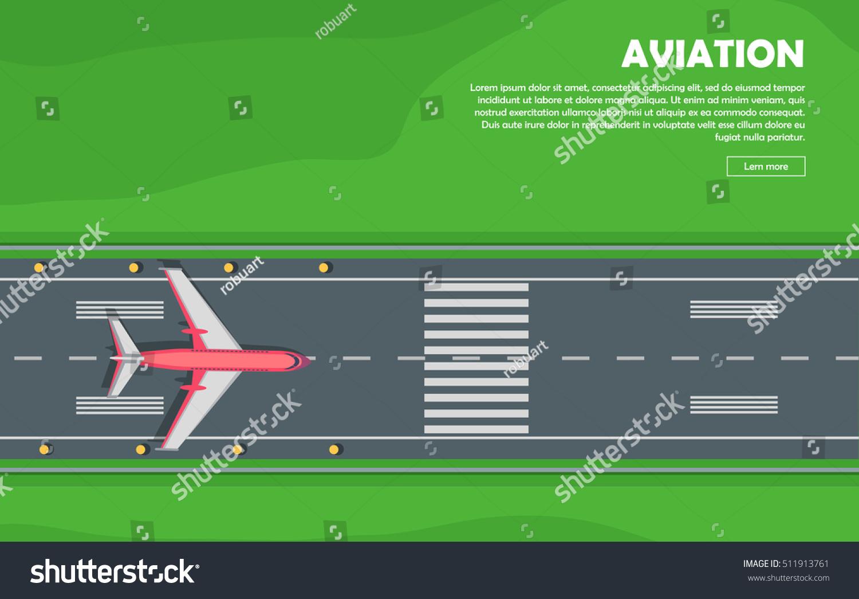 Aviation vector illustration airplane plane airport stock vector aviation vector illustration of airplane plane airport runway takeoff grass pooptronica