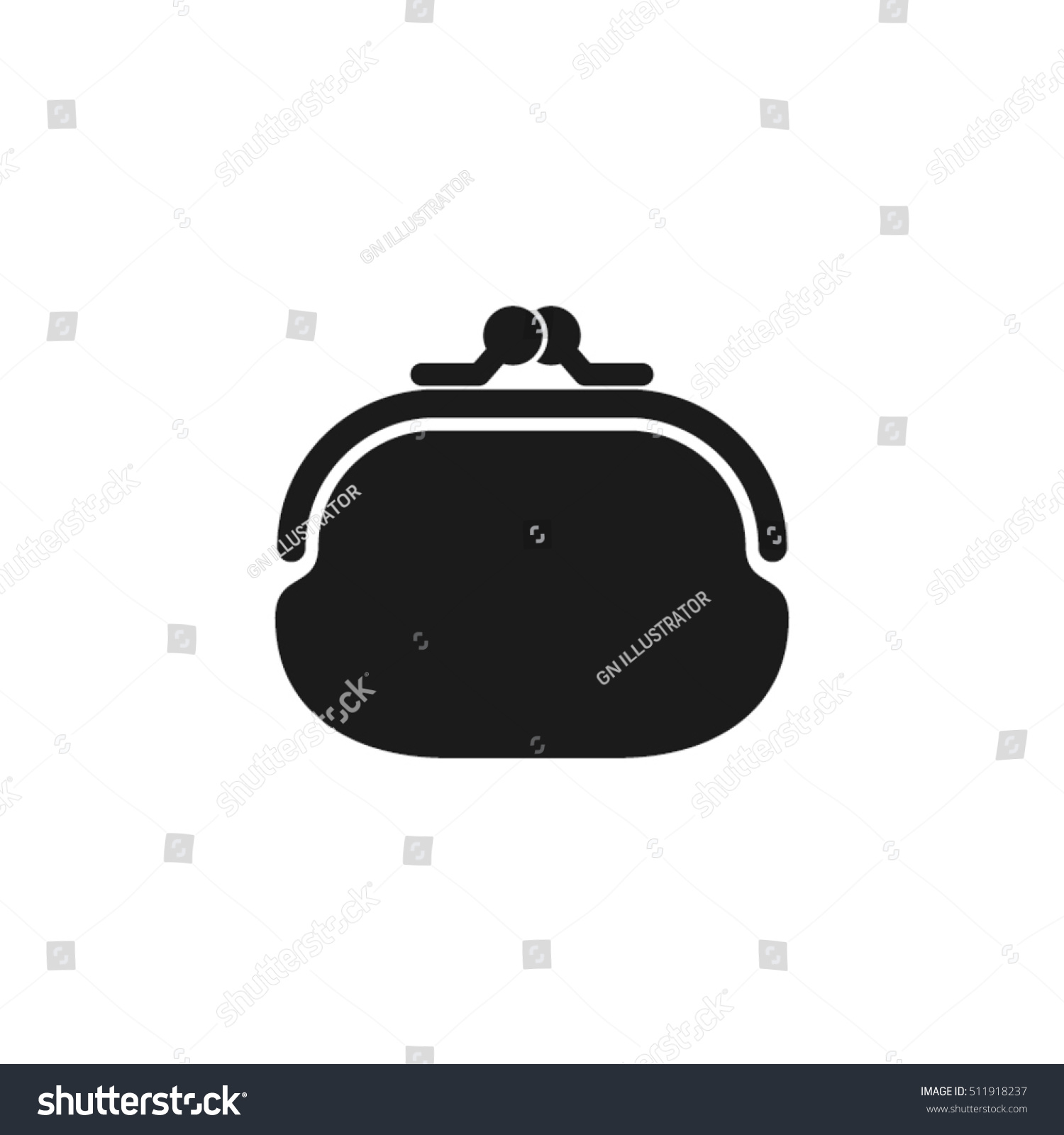 Purse Icon Vector Illustration Eps10 Isolated Stock Vector