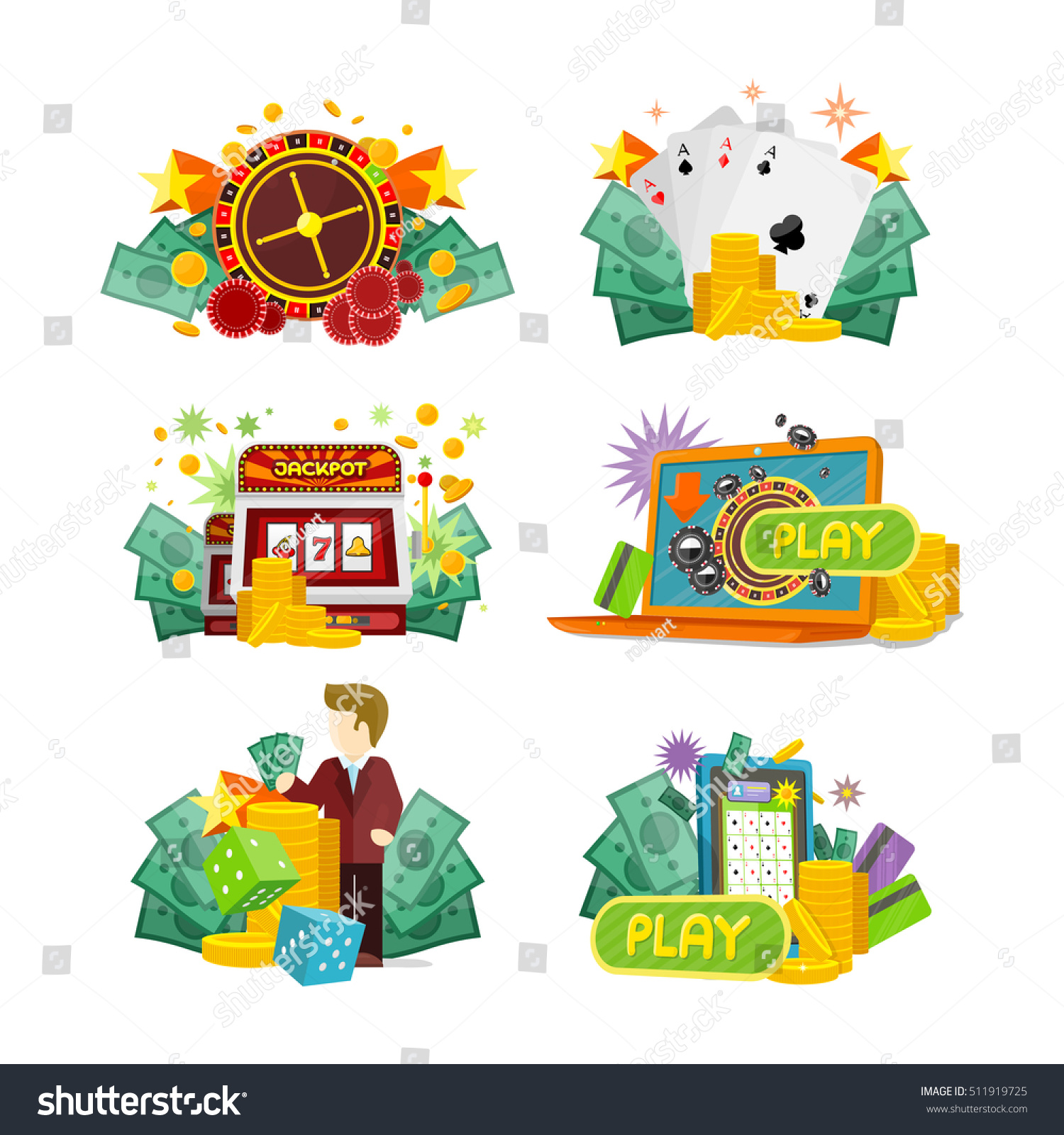 Traditional european roulette table vector illustration stock vector -  Vectors Illustrations Footage Music Casino Slot Machines Dice Poker And Online Games Icons European Roulette Wheel