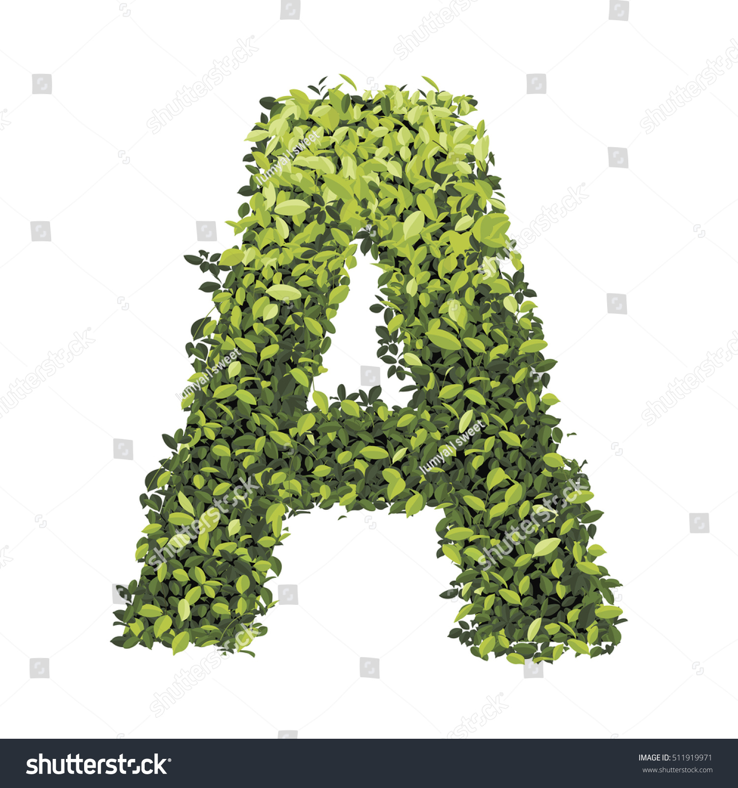 Alphabet green leaves collection decorative symbols stock vector alphabet of green leaves collection decorative symbols isolated on white background biocorpaavc Gallery