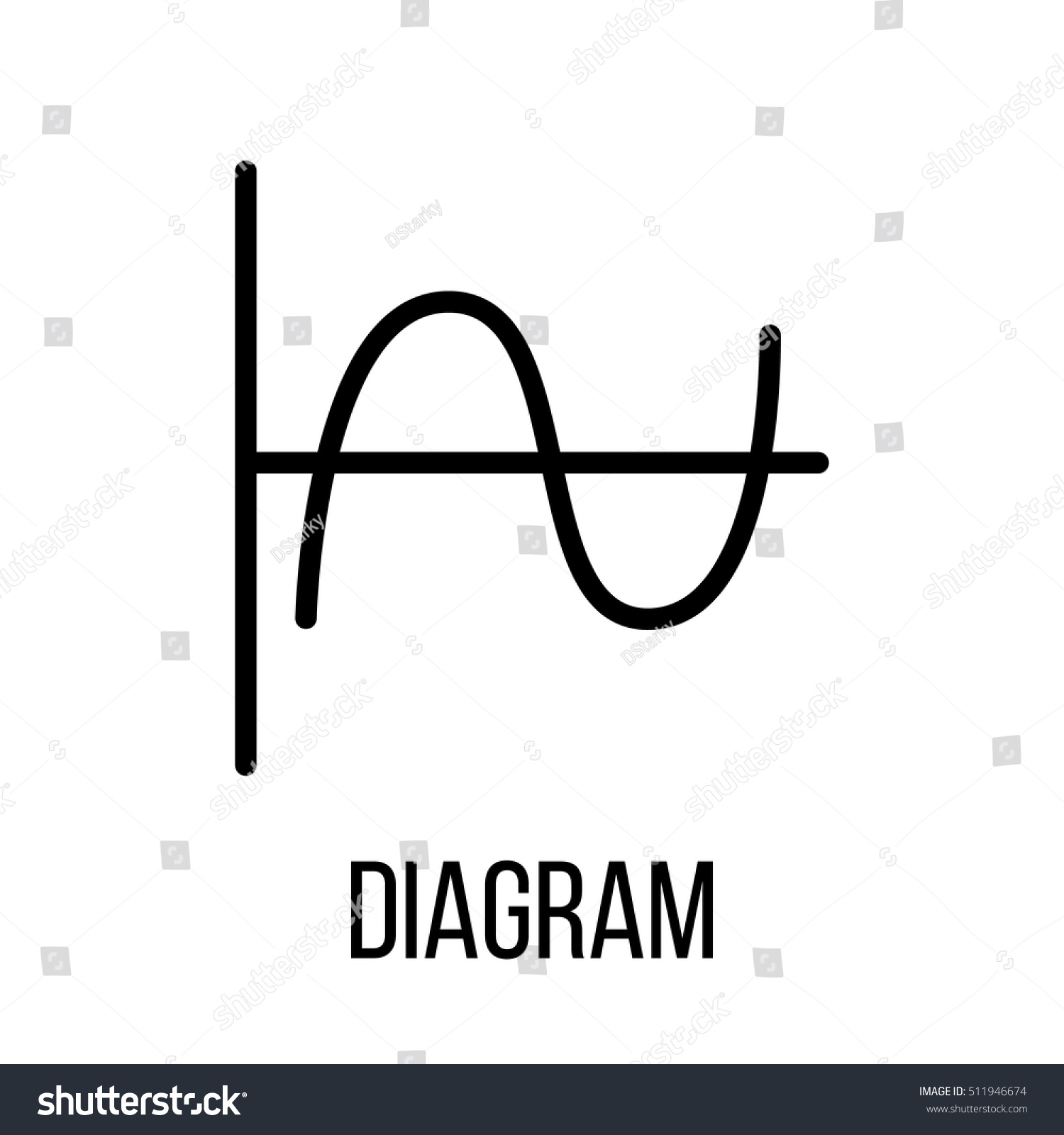 Diagram icon logo modern line style stock vector 511946674 diagram icon or logo in modern line style high quality black outline pictogram for web ccuart Images
