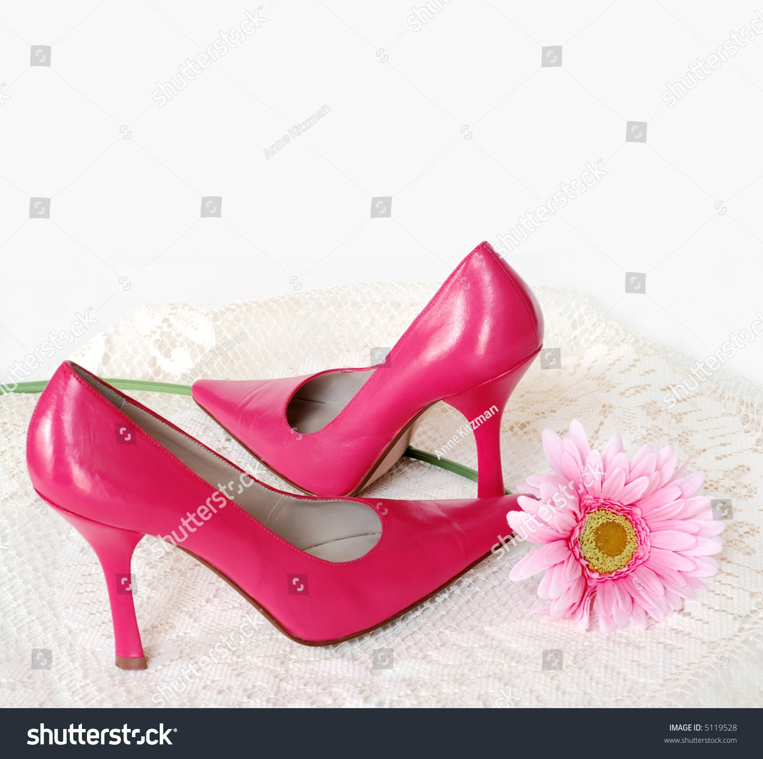 Her First Heels Pair Hot Pink Stock Photo Edit Now 5119528