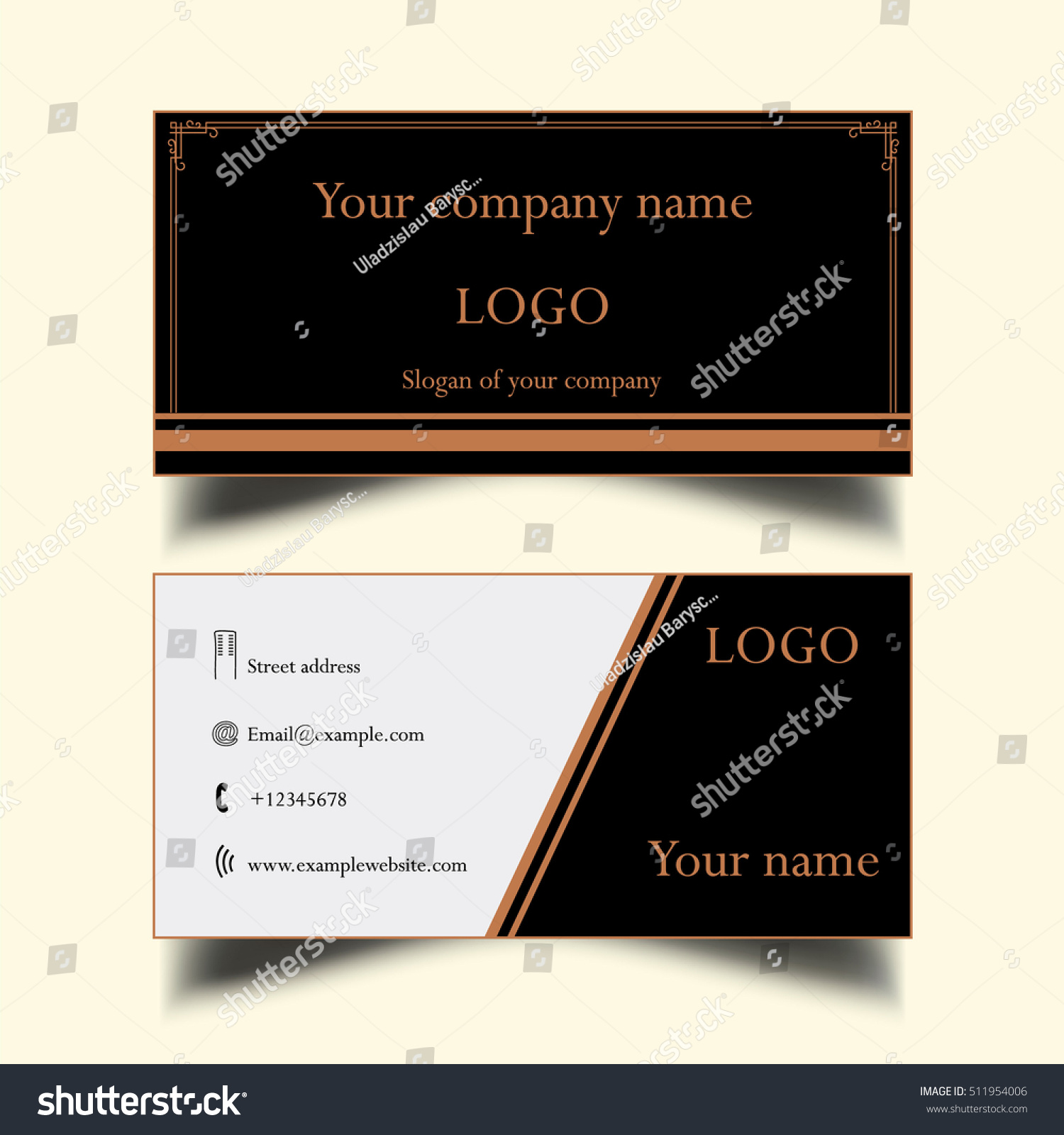 Simple Business Card Stock Illustration