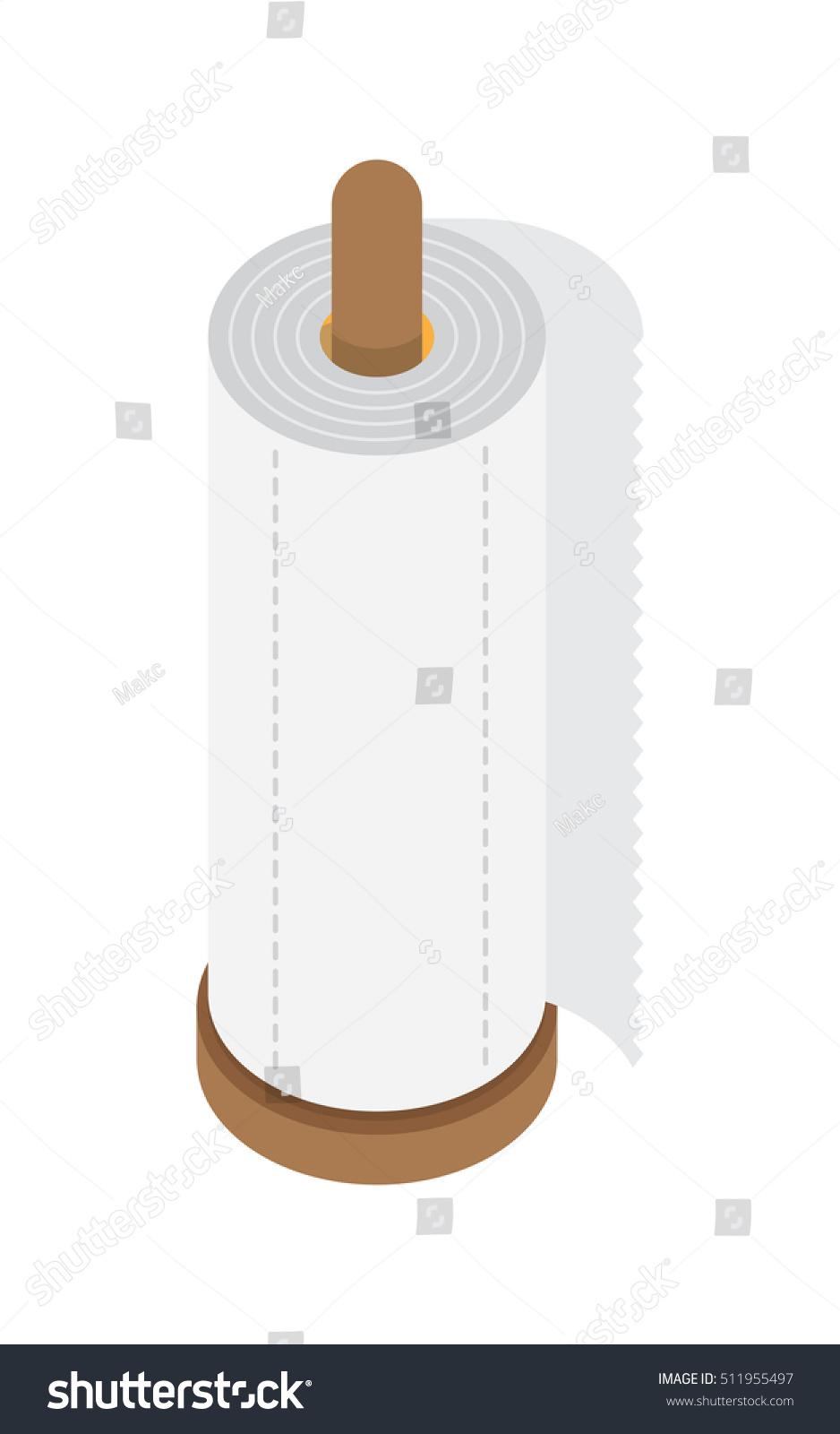 Kitchen Paper Towel Desktop Holder Flat Stock Vector 511955497 ...