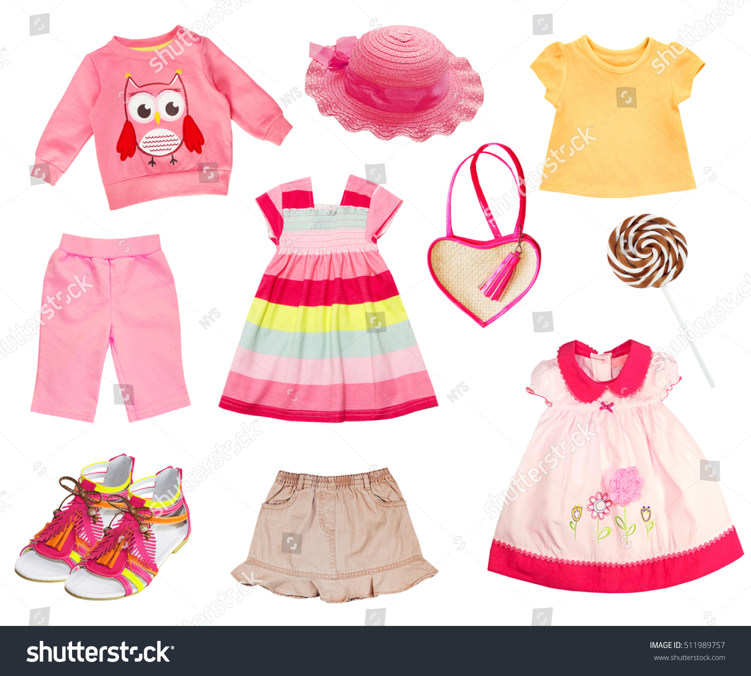 Fancy Baby Girl Child Set Clothes Stock Legal Protection