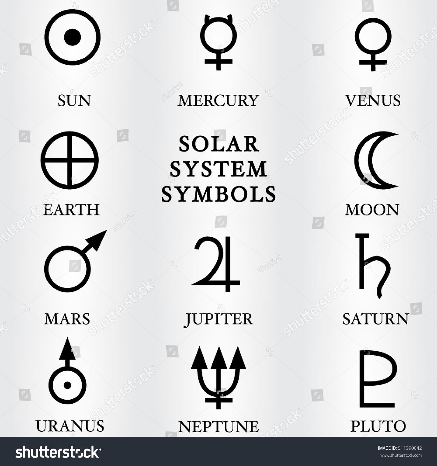 Solar system symbols gallery symbol and sign ideas royalty free vector illustration of the solar system 511990042 vector illustration of the solar system symbols buycottarizona