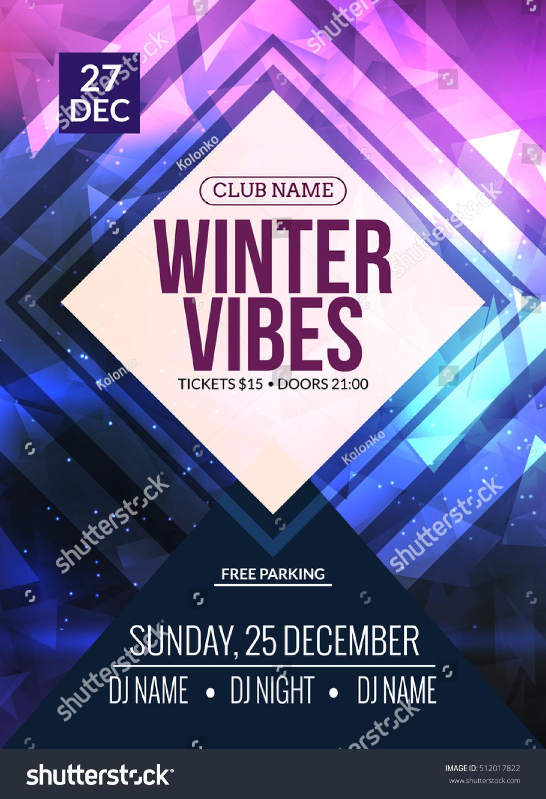 Poster design event - Dance Party Dj Battle Poster Design Winter Disco Party Music Event Flyer Or