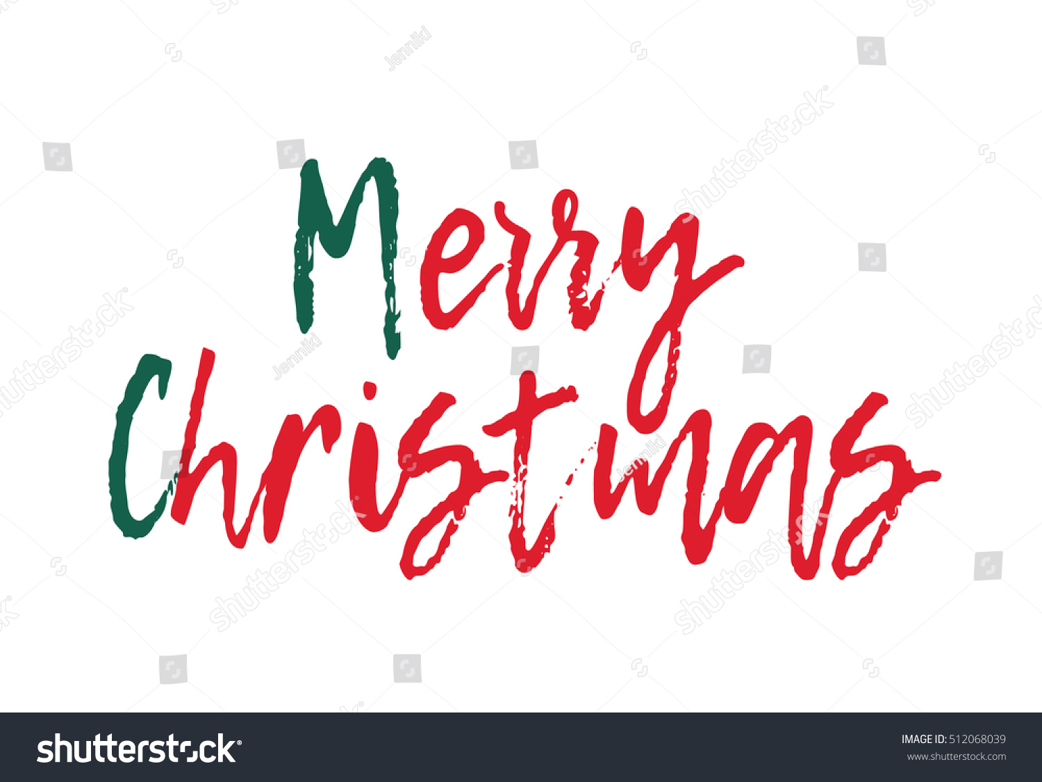 Merry Christmas Greeting Card Calligraphy Ez Canvas