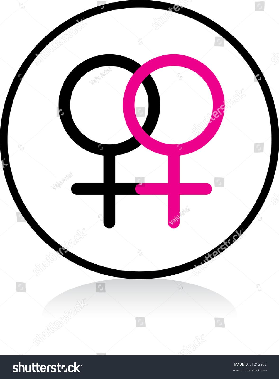 Illuminated sign white version gay female stock illustration illuminated sign white version gay female symbol buycottarizona