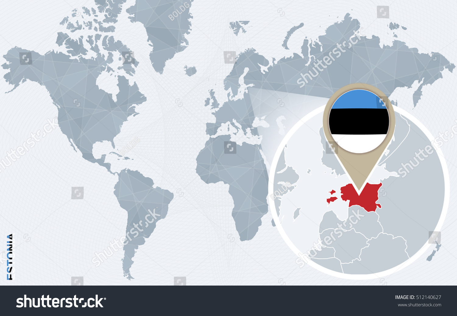 Royalty Free Stock Illustration Of Abstract Blue World Map Magnified
