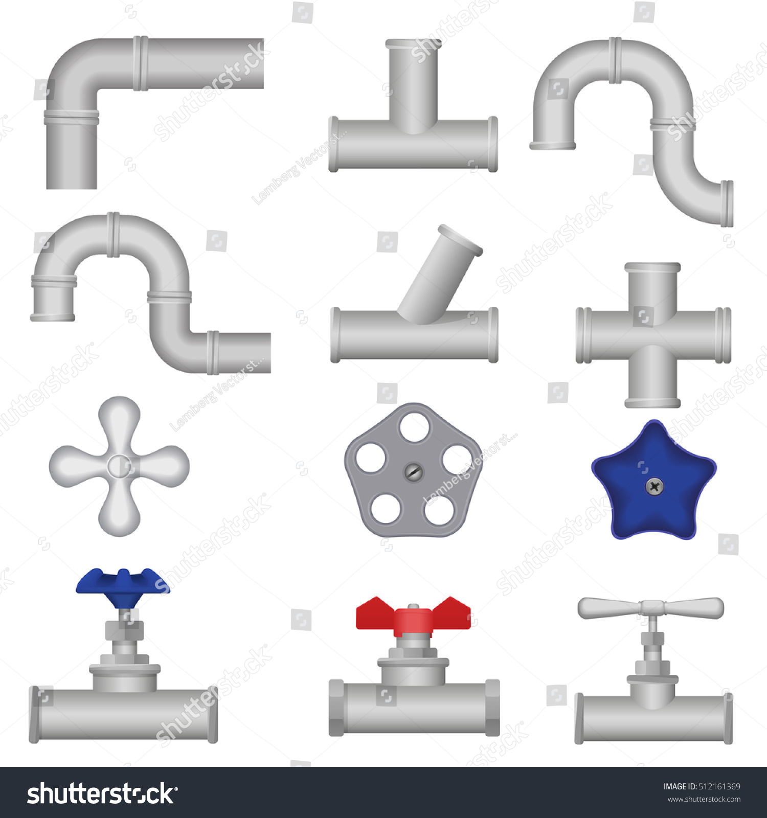Uncategorized Plumbing Pieces construction plumbing pieces set pipes fittings stock vector of valve gate water