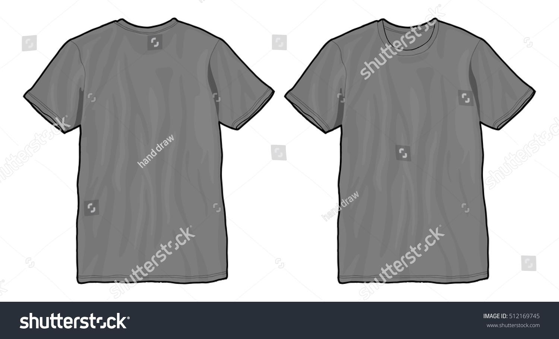 Black t shirt template vector - Grey T Shirt Template Vector