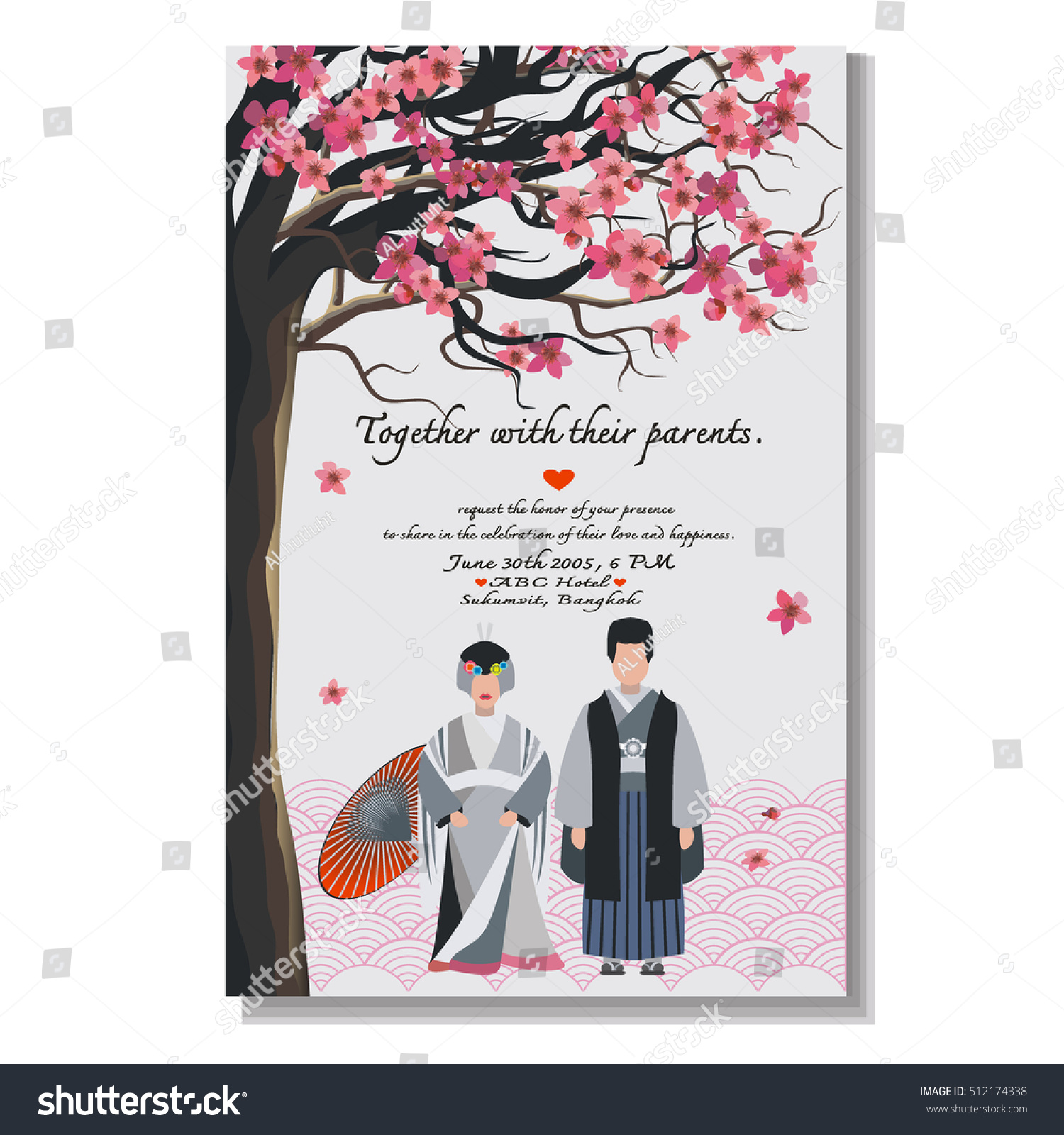Japanese Wedding Card