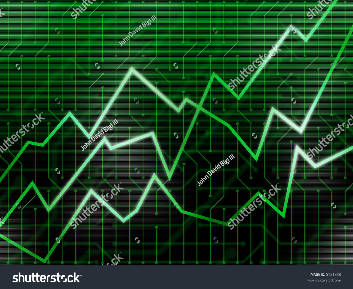Financial Chart Showing Uptrend On Circuitry Stock Illustration Figure 3 Candlestick Circuit Use With Background