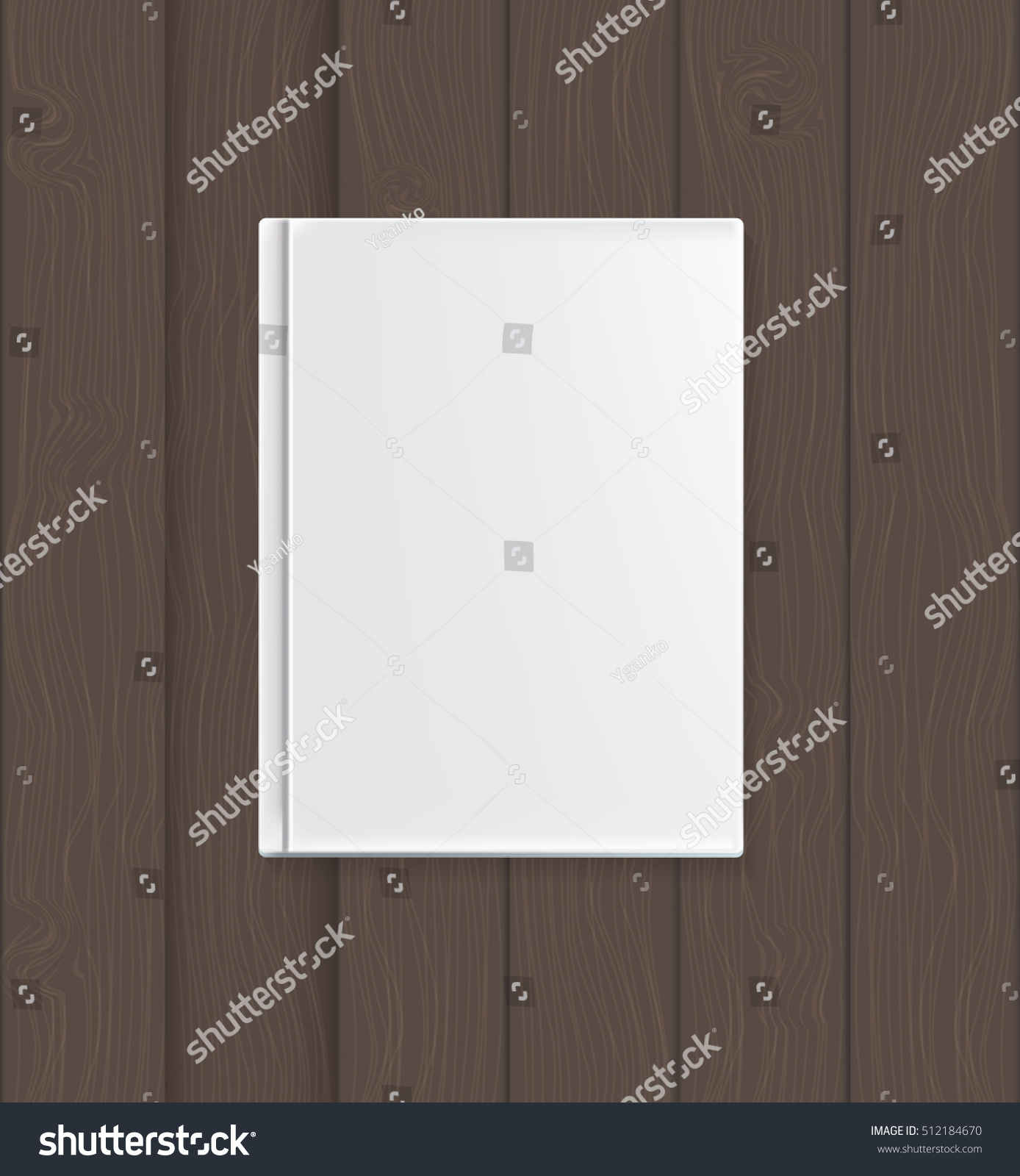 Empty book cover template your text stock illustration for Book cover template illustrator