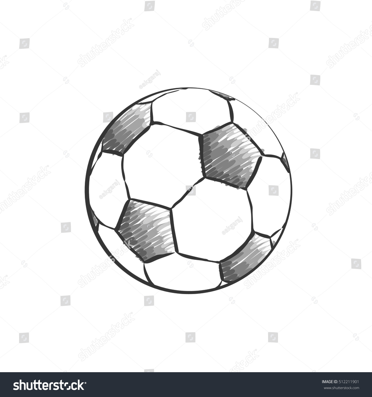 Football Icon Sketch Soccer Ball Drawing Stock Vector Royalty Free 512211901