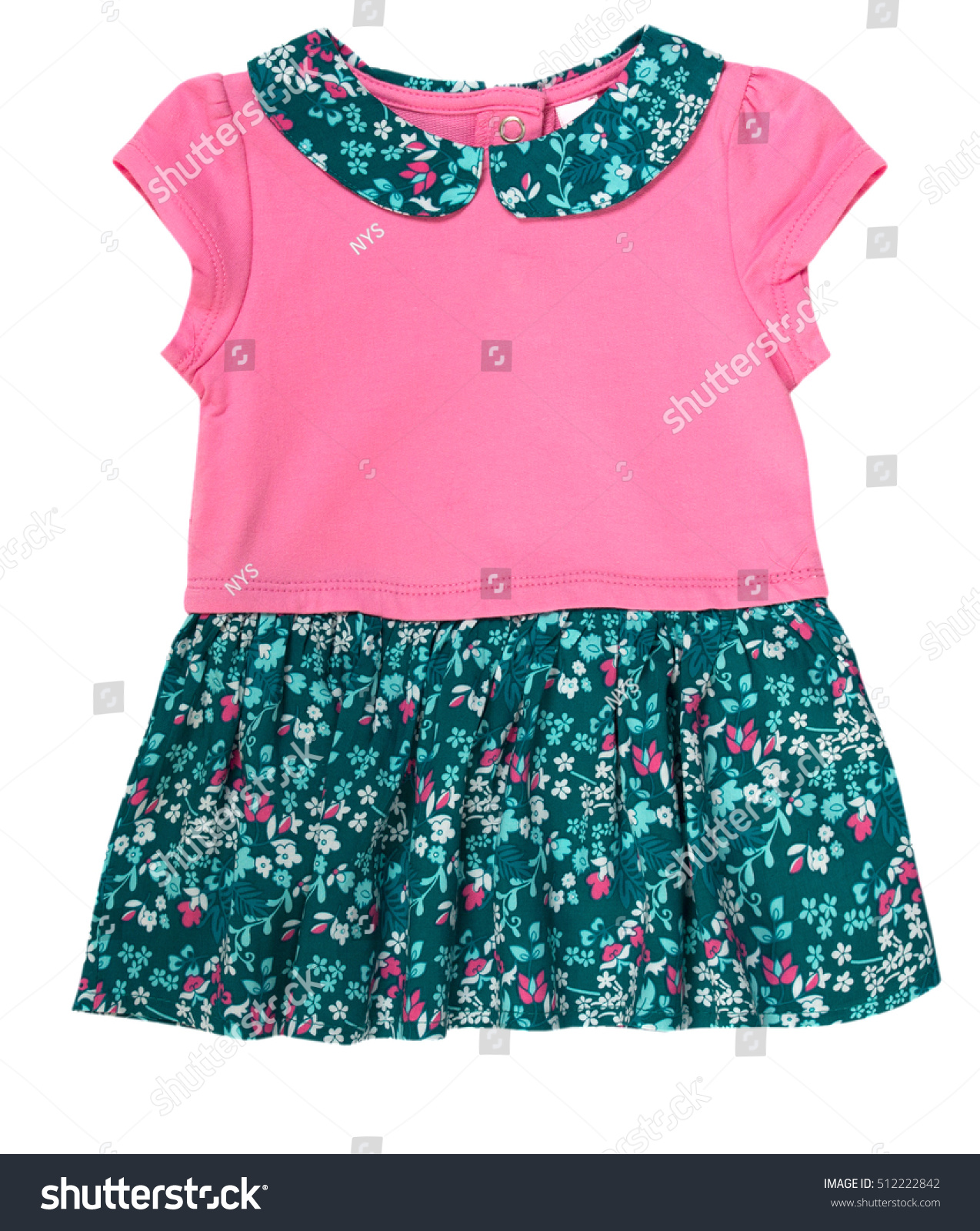 Baby Child Girl Pink Fancy Dress Stock Royalty Free