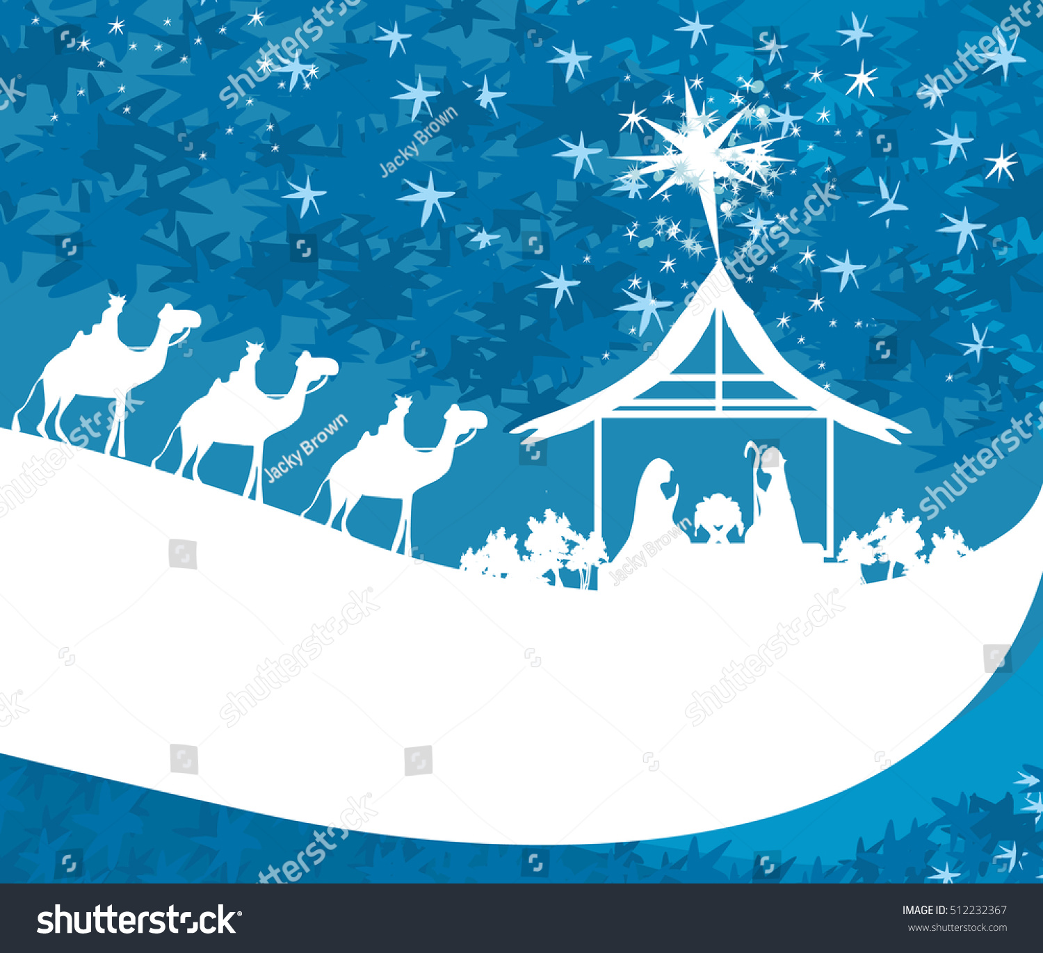Birth Jesus Bethlehem Abstract Card Stock Vector 512232367
