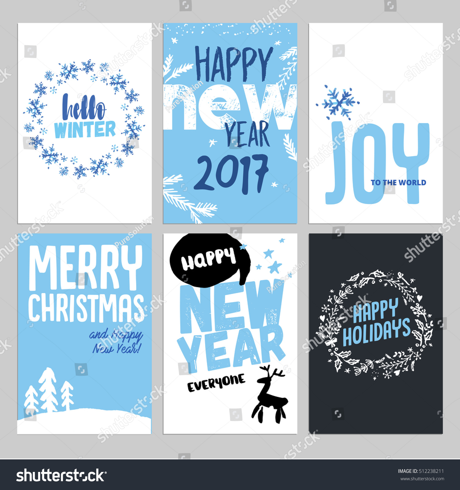 Christmas and new year hand drawn greeting cards set vector id 512238211 m4hsunfo