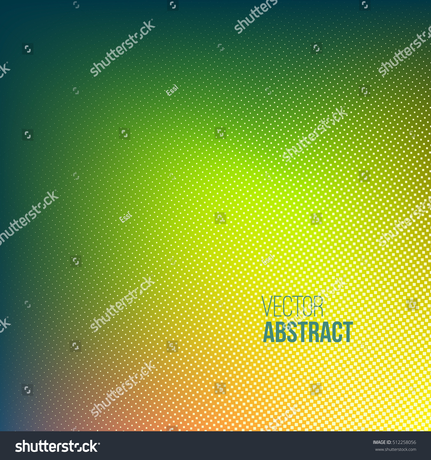 Abstract Dotted Background Green Yellow Color Stock Vector 512258056 ...
