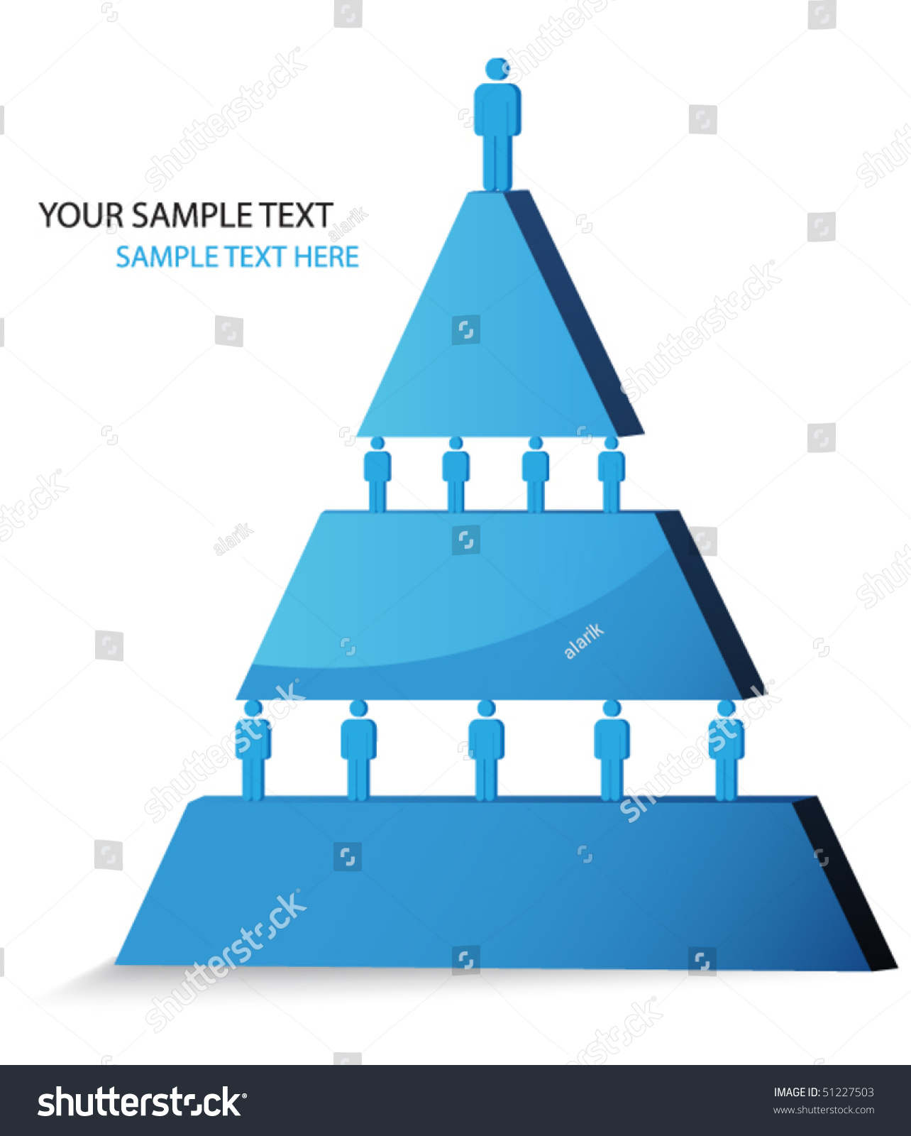 Pyramidal Diagram Illustration Hierarchy Stock Photo (Photo, Vector ...