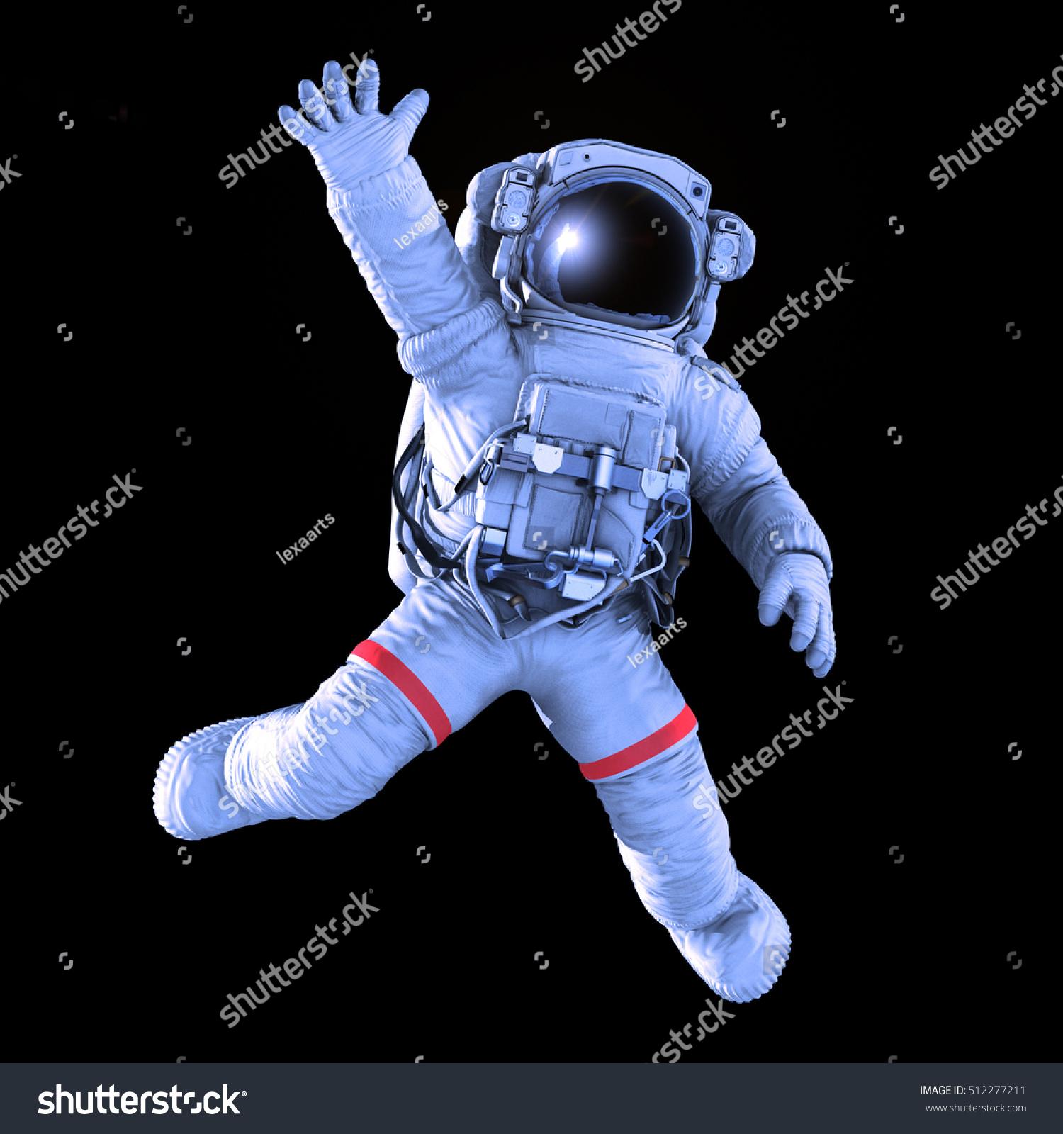 astronaut black background - photo #14