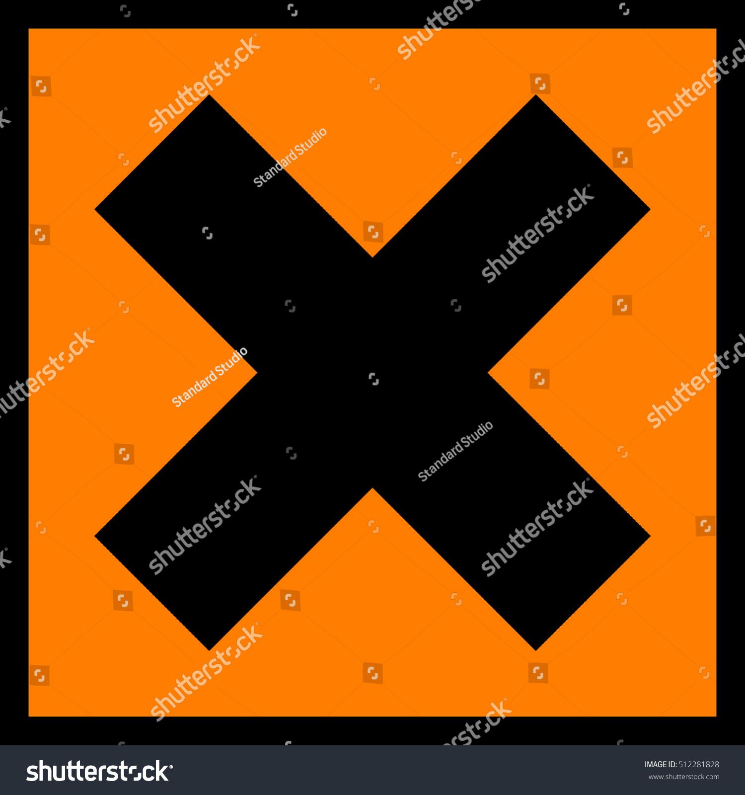 European hazard symbol irritant harmful vector stock vector european hazard symbol irritant harmful vector illustration biocorpaavc Gallery