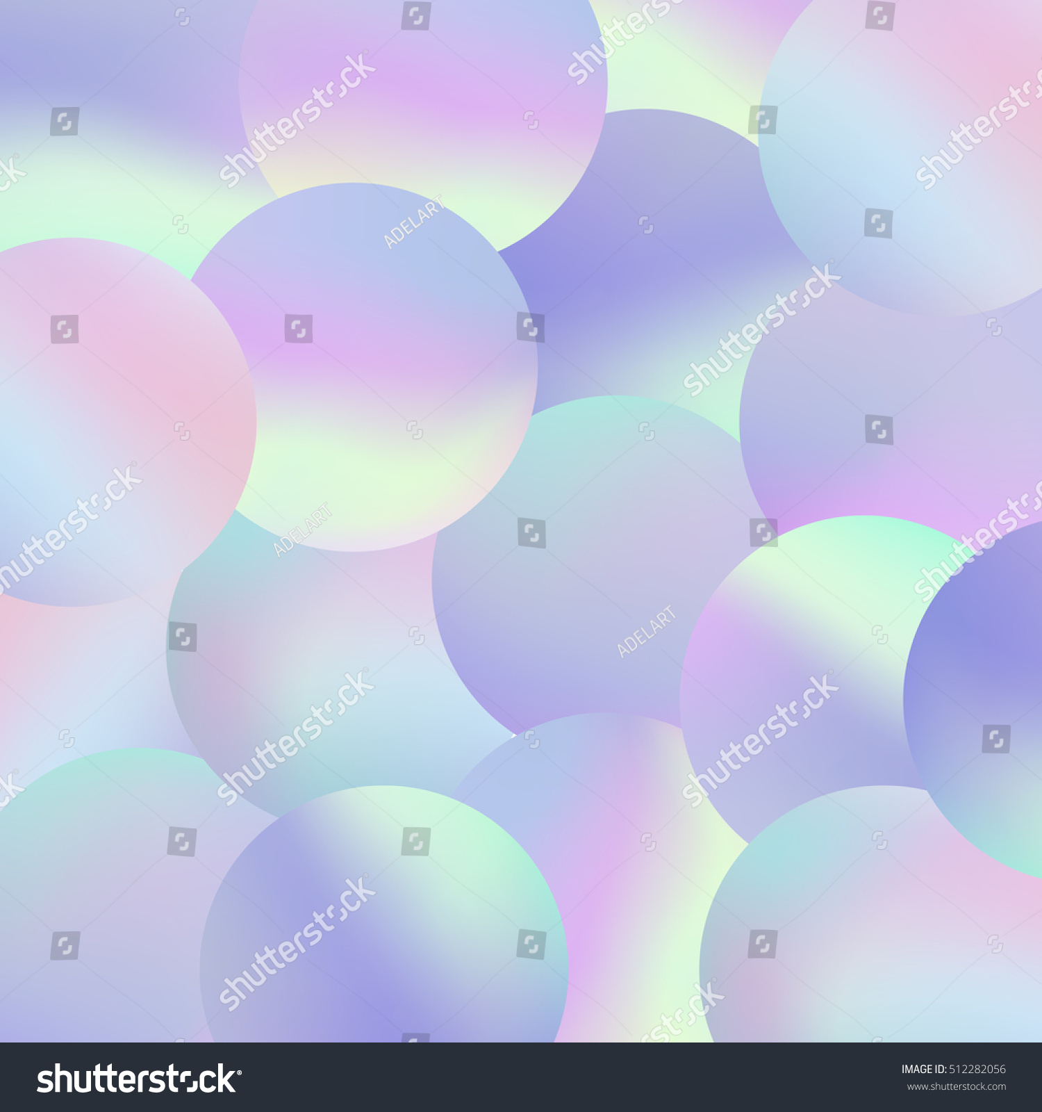 Holographic Bubbles Background Trendy Fashion Wallpaper 512282056