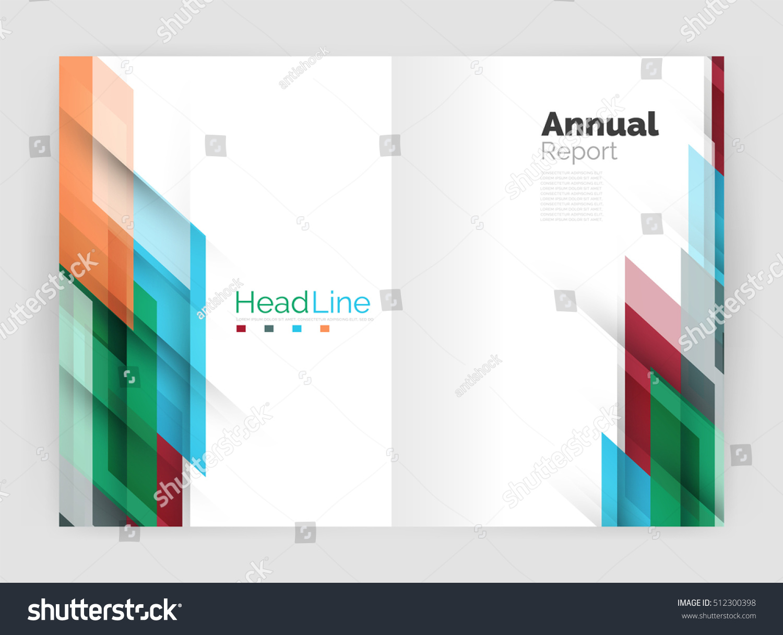 geometric business annual report templates modern stock illustration