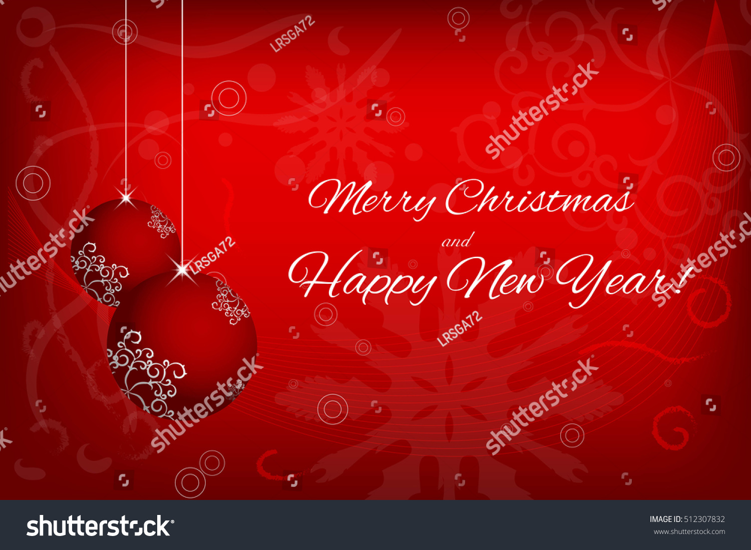 merry christmas and happy new year invitation card banner design element vector illustration