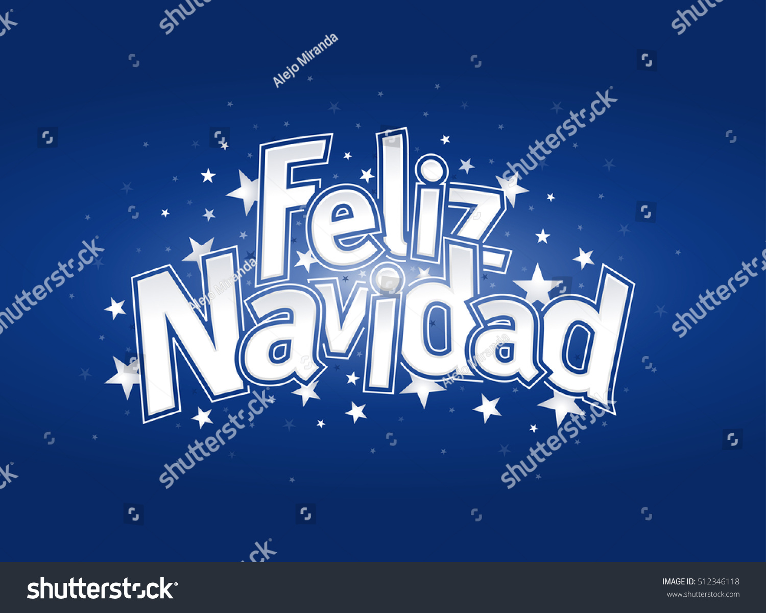 Feliz navidad merry christmas spanish language stock photo photo feliz navidad merry christmas in spanish language blue cover of greeting card with stars m4hsunfo