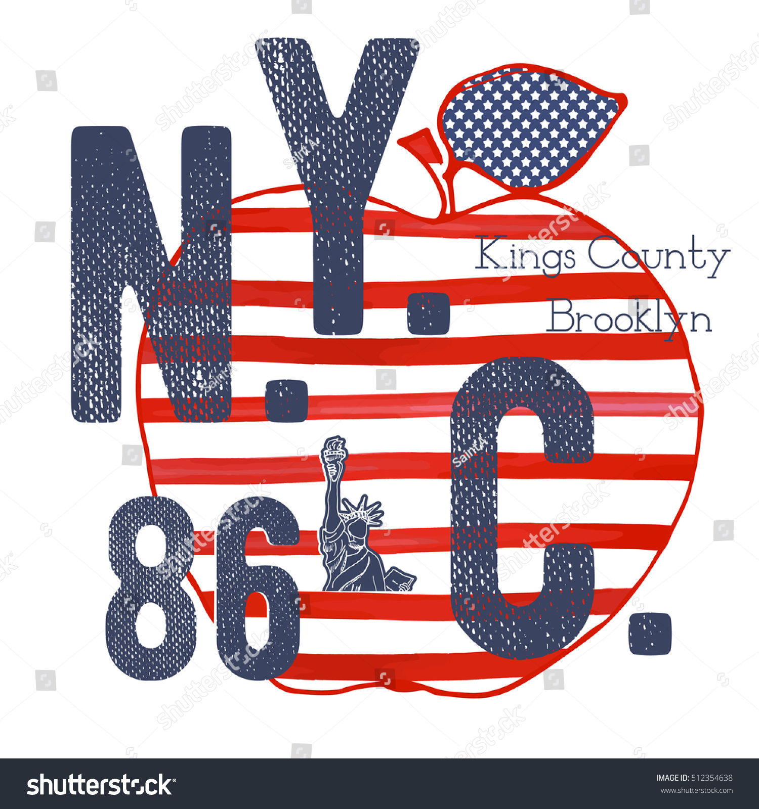 tshirt typography design nyc printing graphics stock vector 512354638 shutterstock