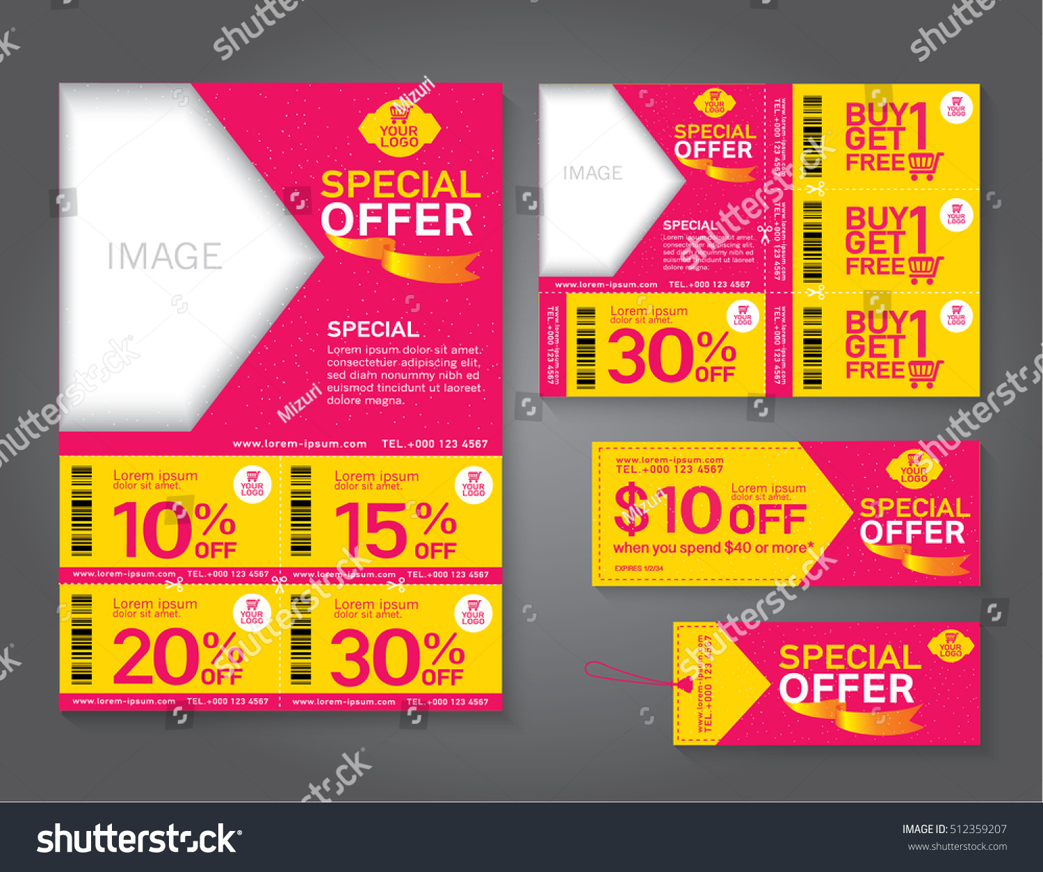 Sale Flyer Promotions Coupon Banner Design Stock Vector Royalty