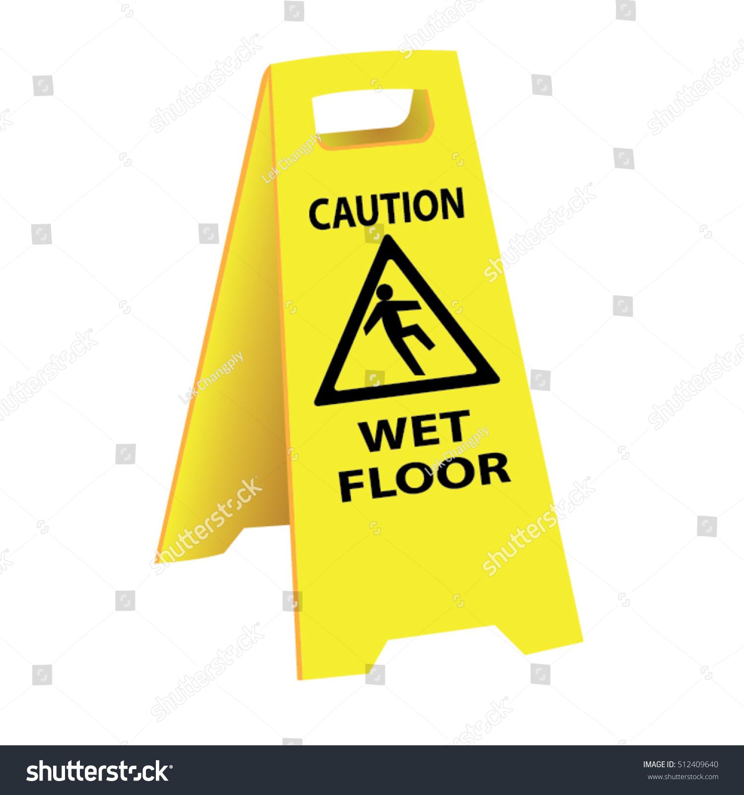 Slippery floor sign vector carpet vidalondon for Floor banner
