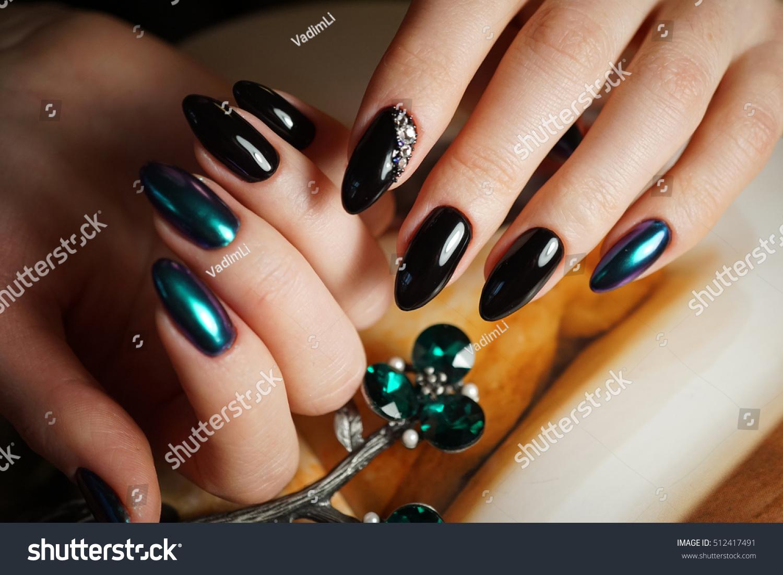 Beautiful Bright Natural Nails Perfect Clean Stock Photo (Royalty ...