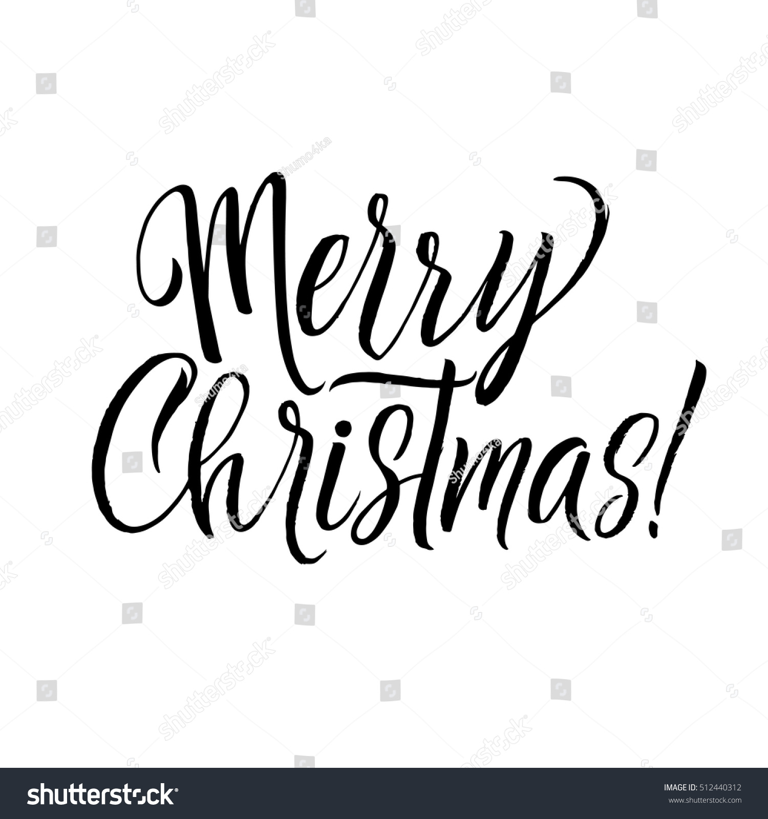 merry christmas calligraphy card greeting design on white background ez canvas