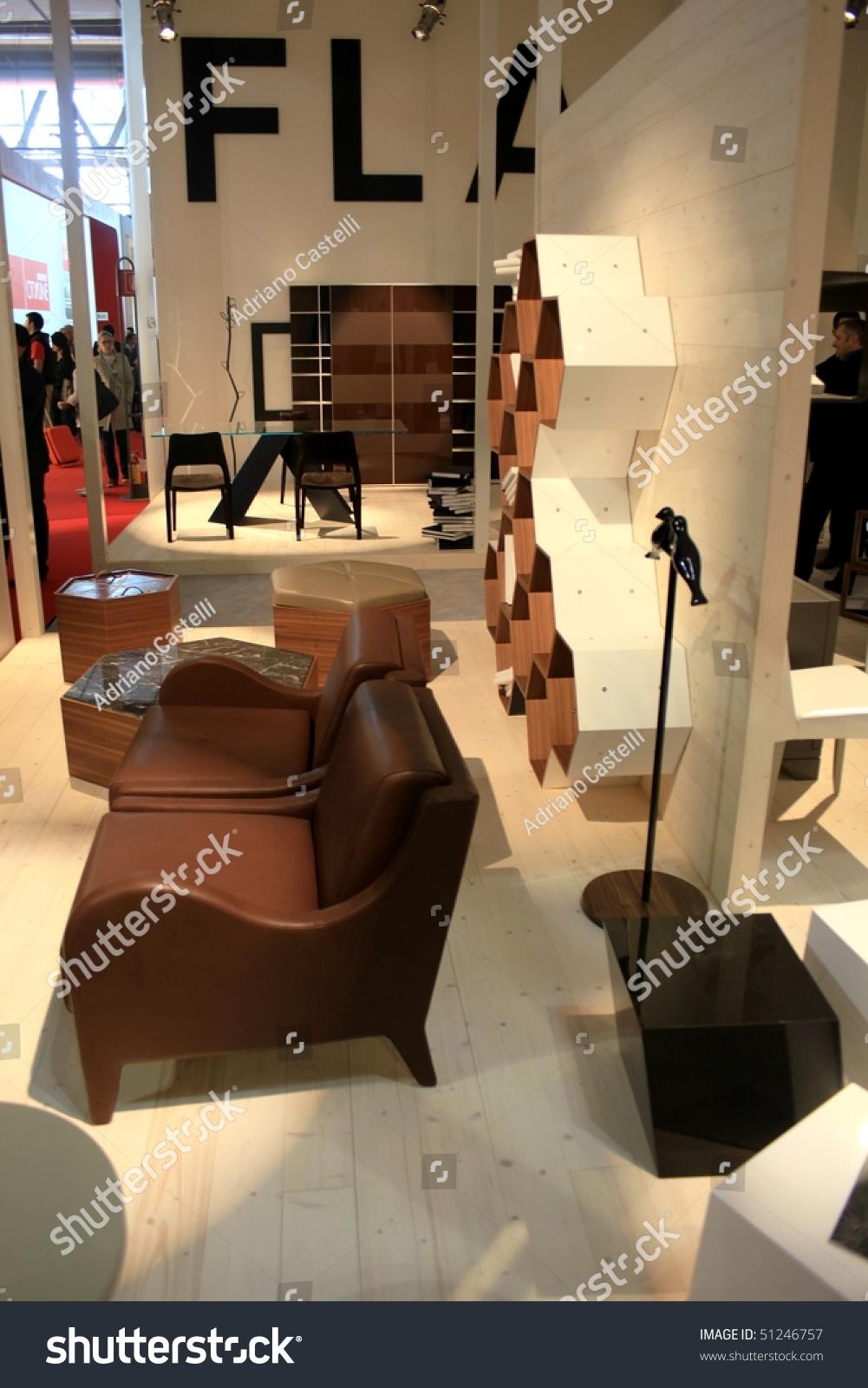 Milan april 15 people visit interior design stands at salone del mobile international for International interior design exhibition