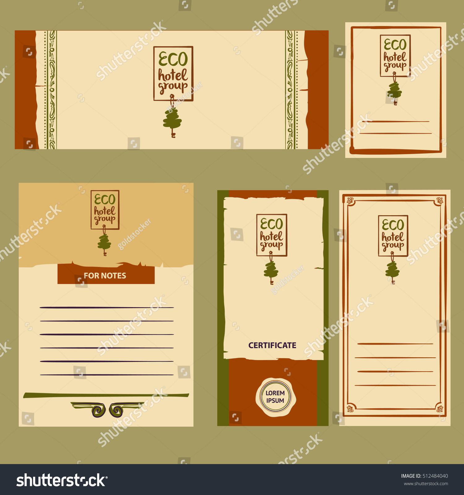 Element corporate identity banner poster card stock vector element of corporate identity banner poster card with green tree and key for pronofoot35fo Images