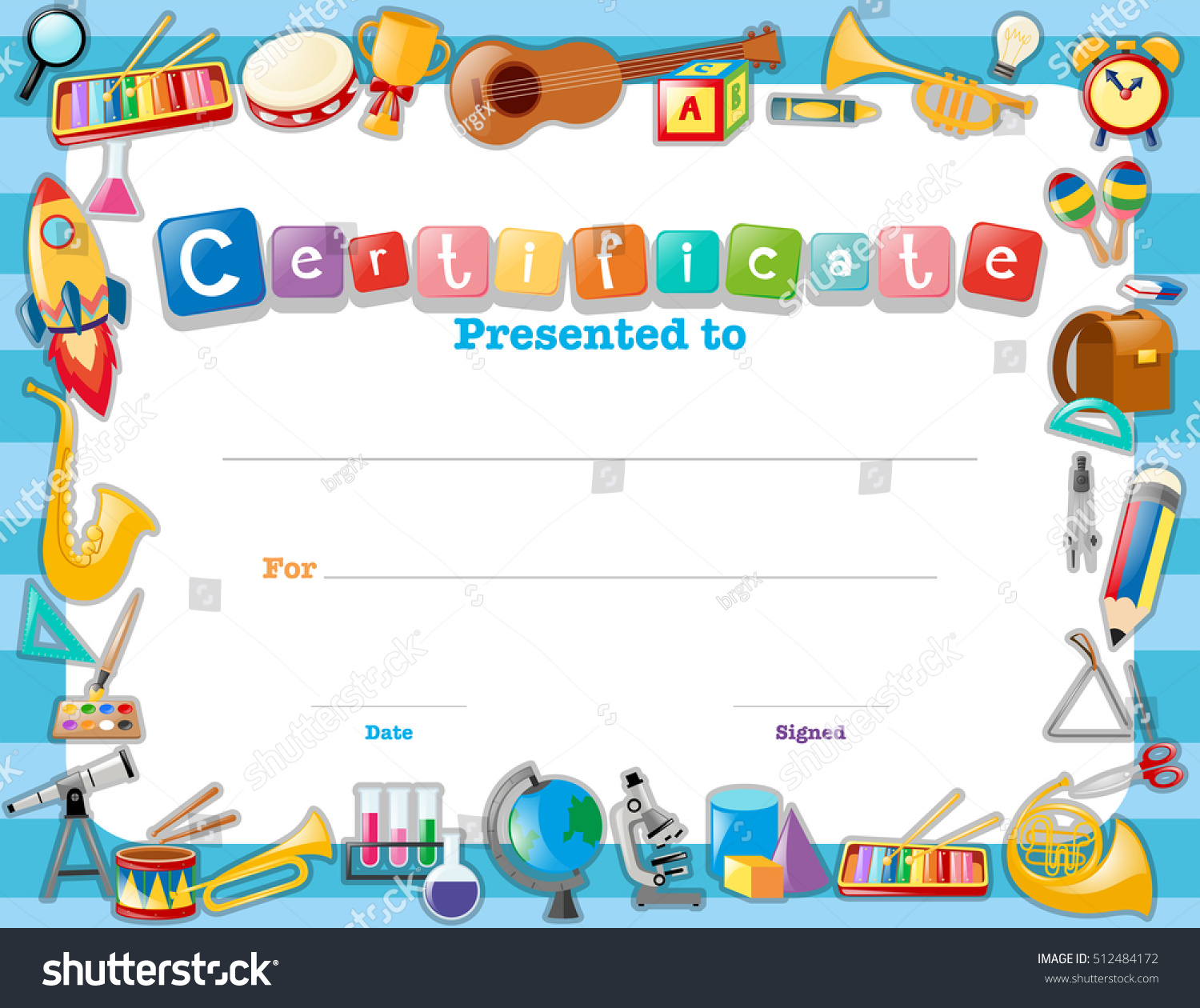 Business certificate templates table tennis certificates design business certificate templates tennis certificates design stock vector certificate template with school items illustration 512484172 business yadclub Images