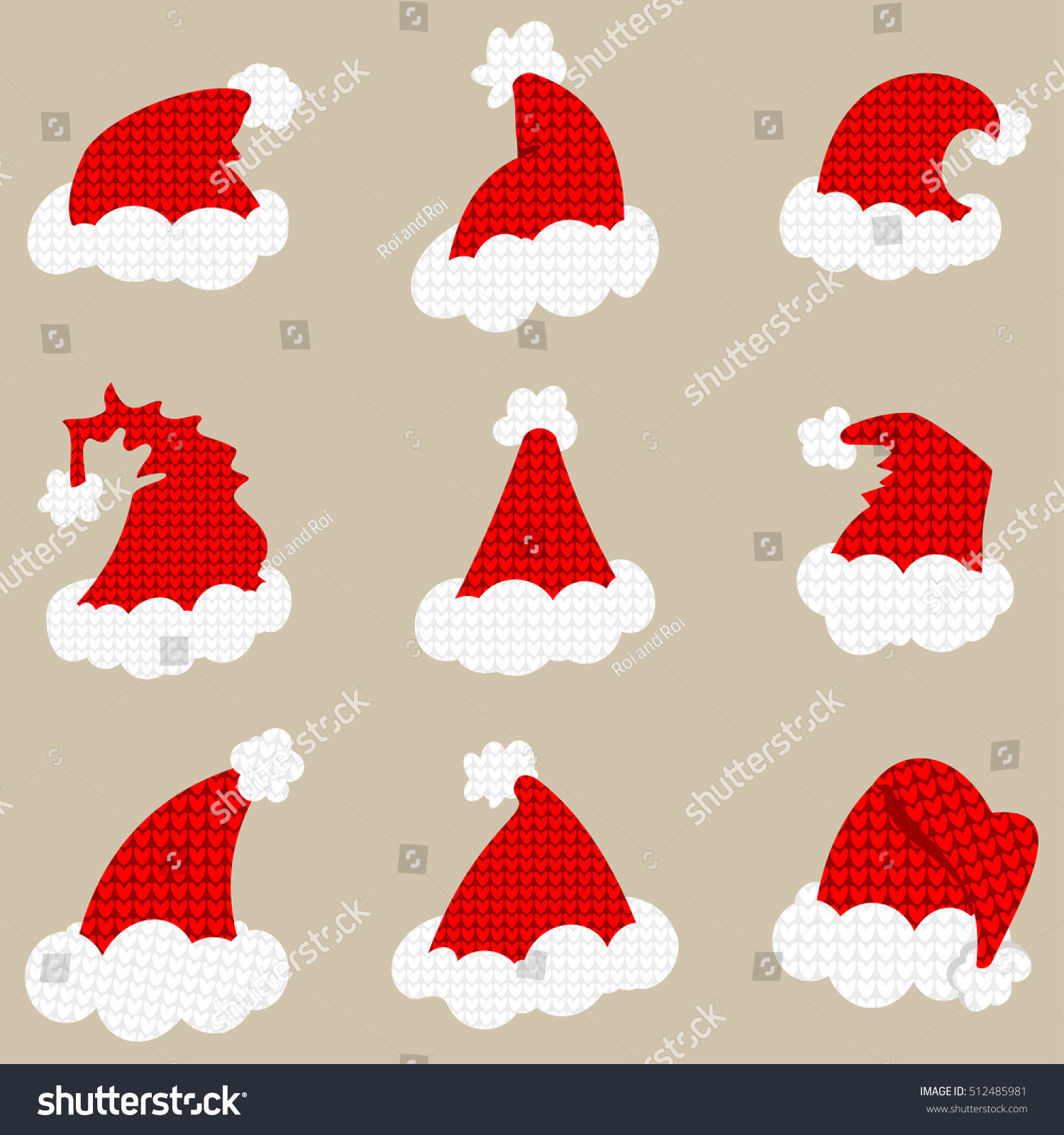 Santa Red Hat Isolated On Background Stock Vector 512485981 ...