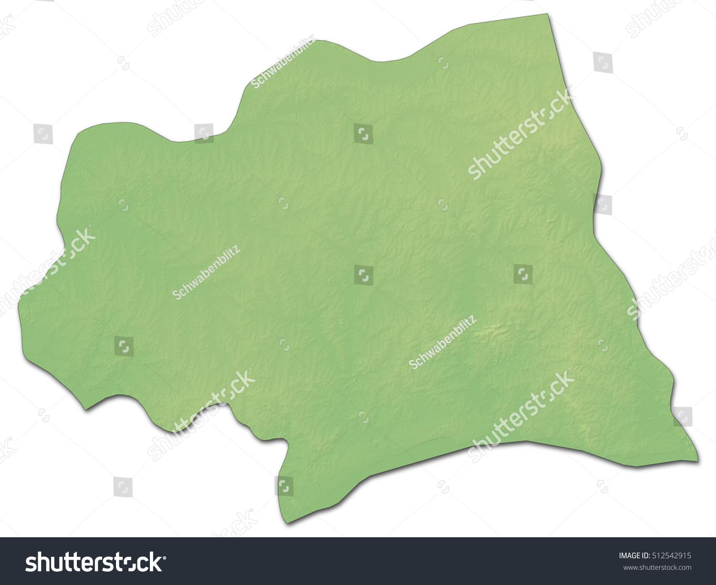 Relief Map Canelones Uruguay Drendering Stock Illustration - Uruguay relief map