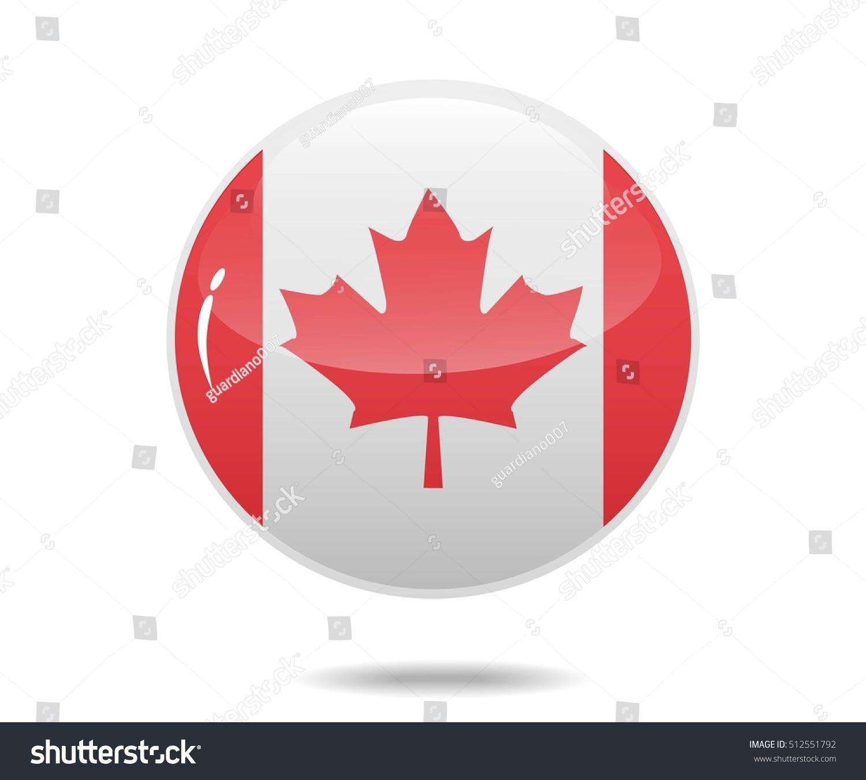 canada flag circle bubbles canadian vector stock vector 512551792