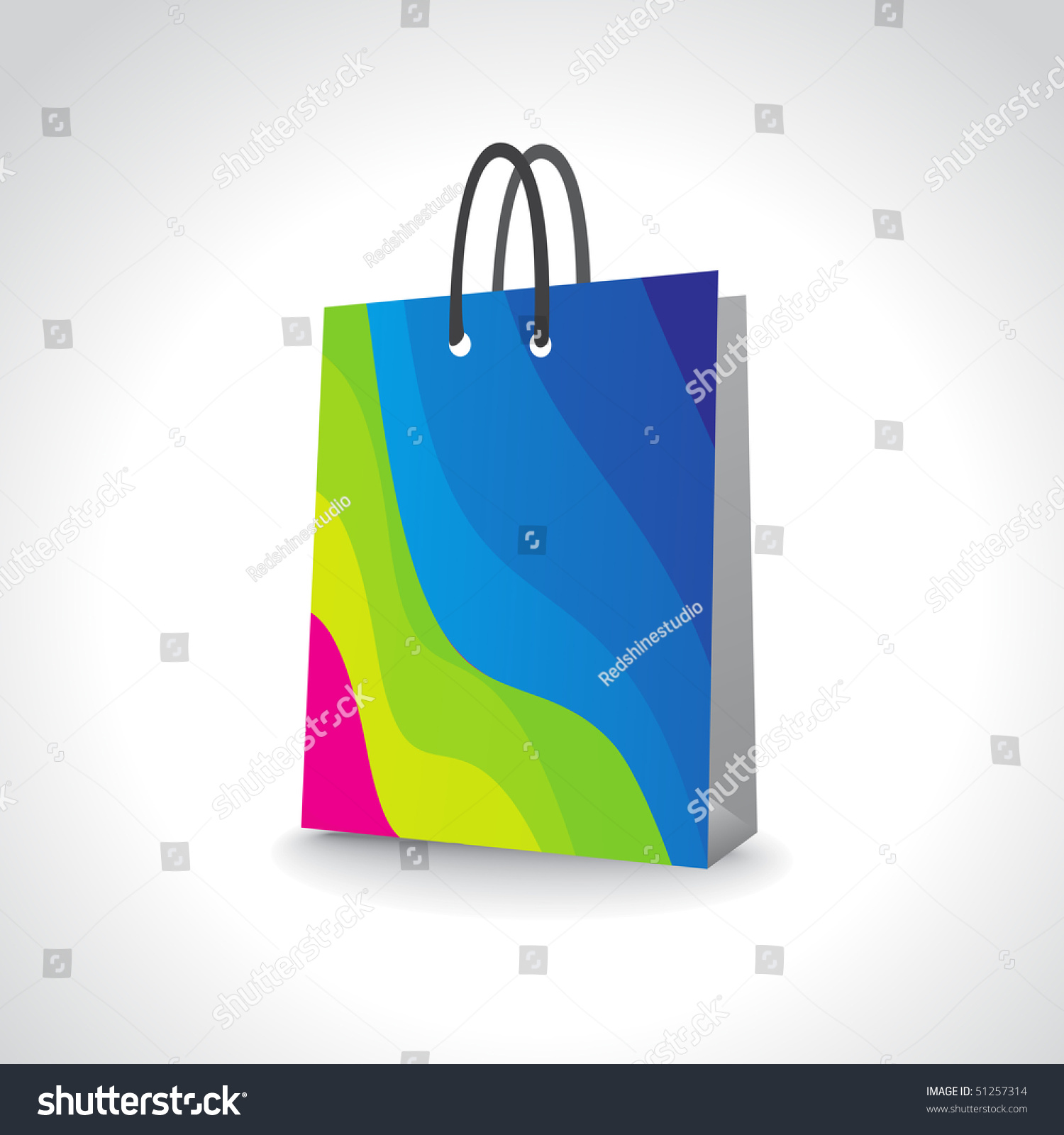 Shopping Bag, Add Your Own Design Or Logo, Vector Illustration ...