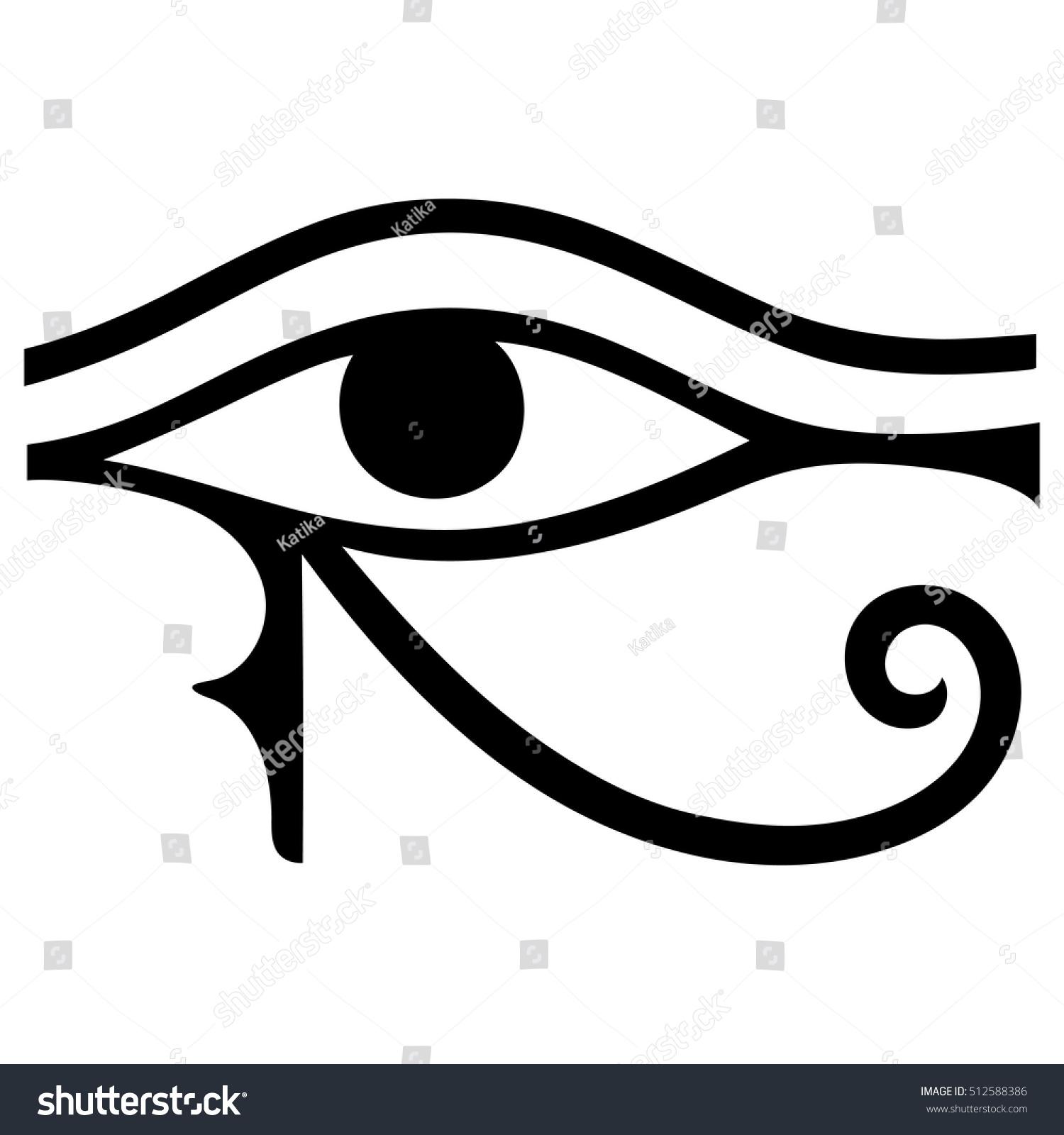 Ancient symbol eye horus egyptian moon stock vector 512588386 the ancient symbol eye of horus egyptian moon sign left eye of horus biocorpaavc Choice Image