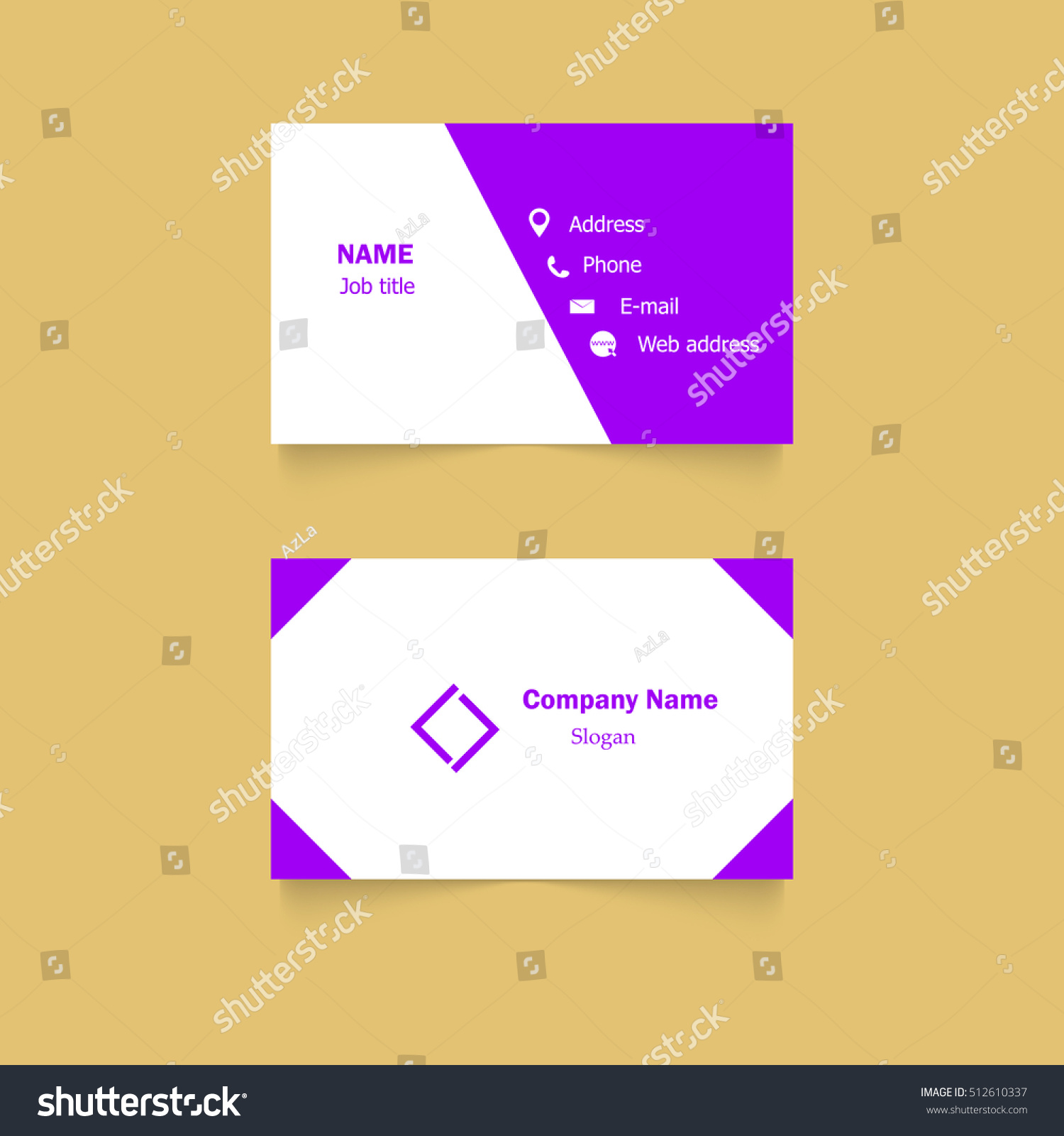 Vector Modern Creative Clean Business Card Stock Vector 512610337 ...