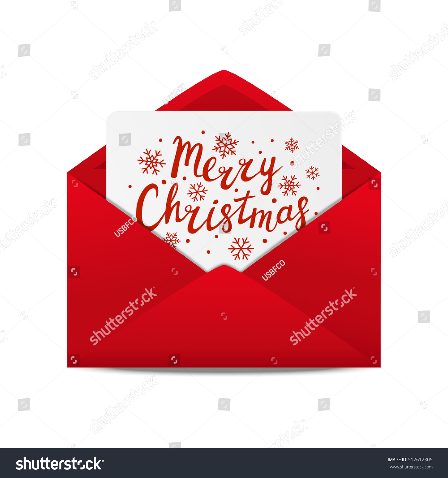 Holiday Letter Christmas Greeting Card Stock Vector 512612305 ...