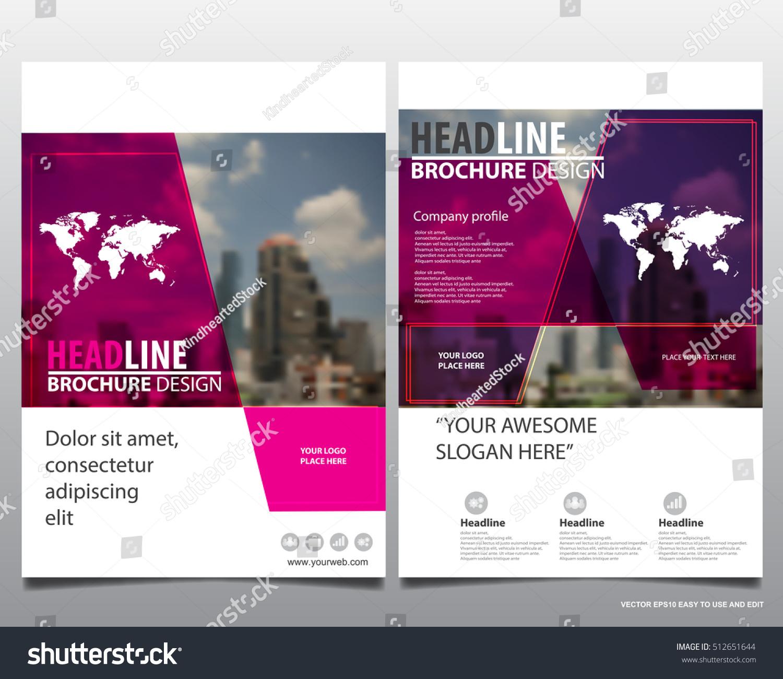Modern elegance annual report brochure flyer design template vector